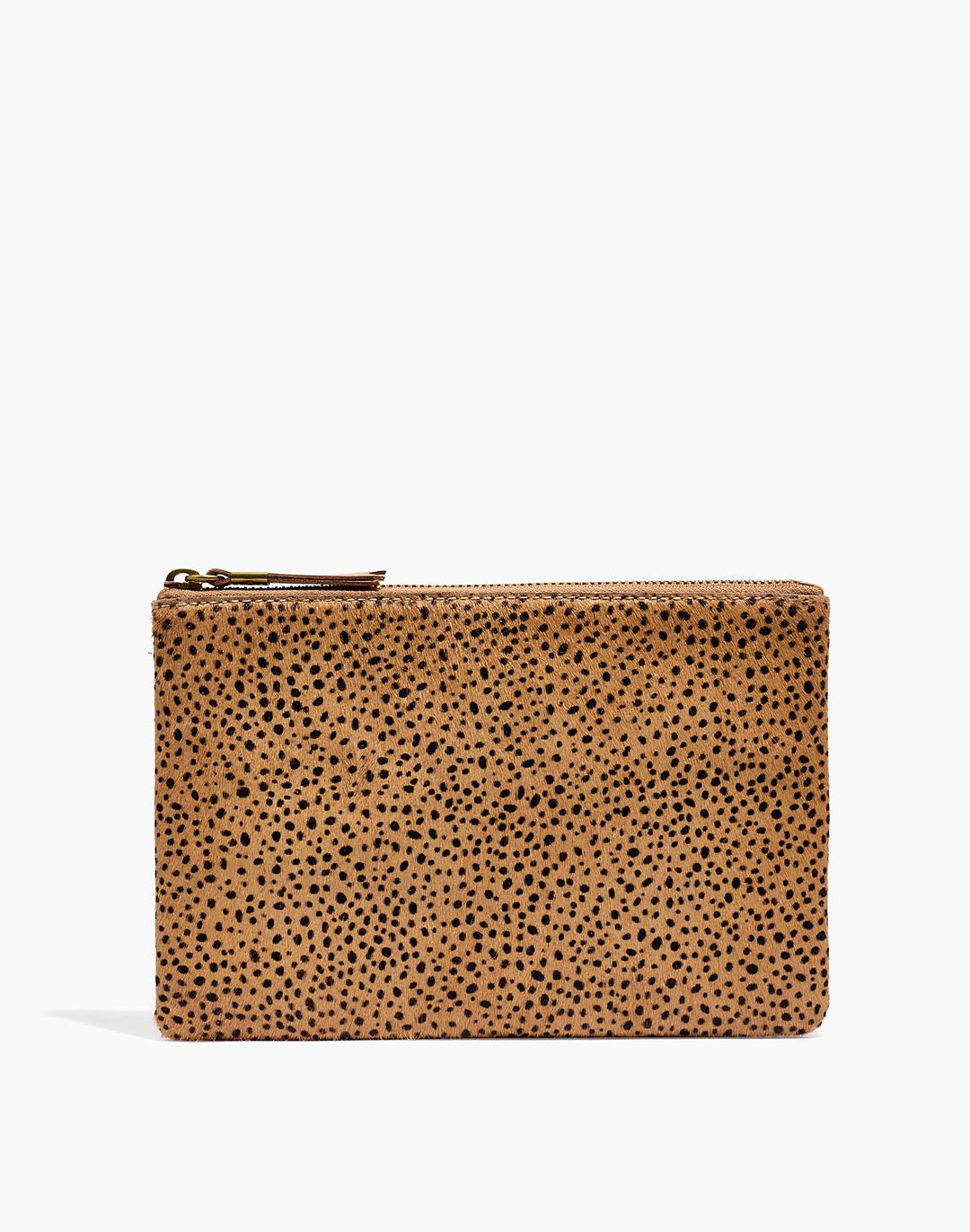 The Leather Pouch Clutch: Dotted Calf Hair Edition