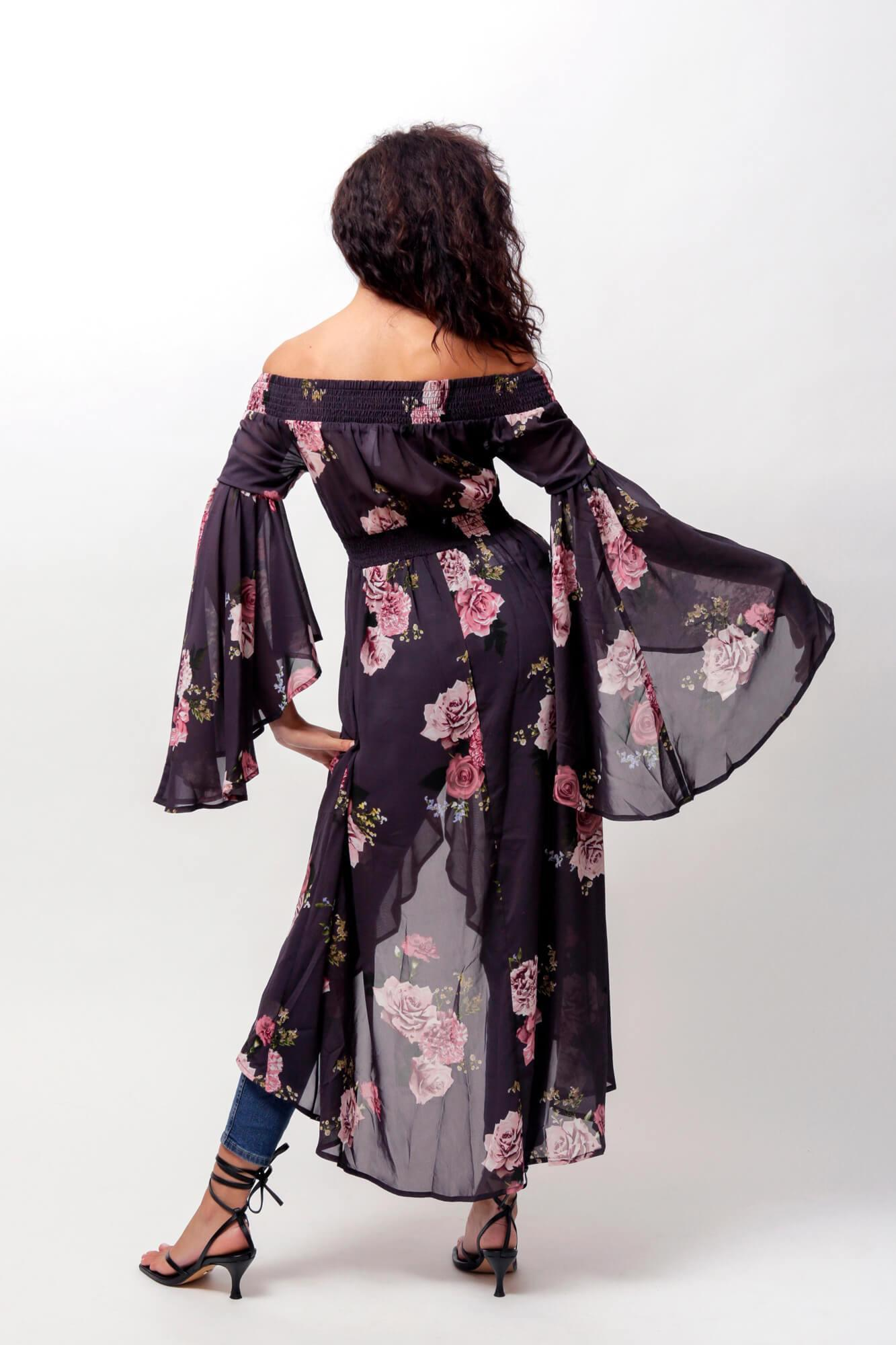 Romance Off The Shoulder Duster 2