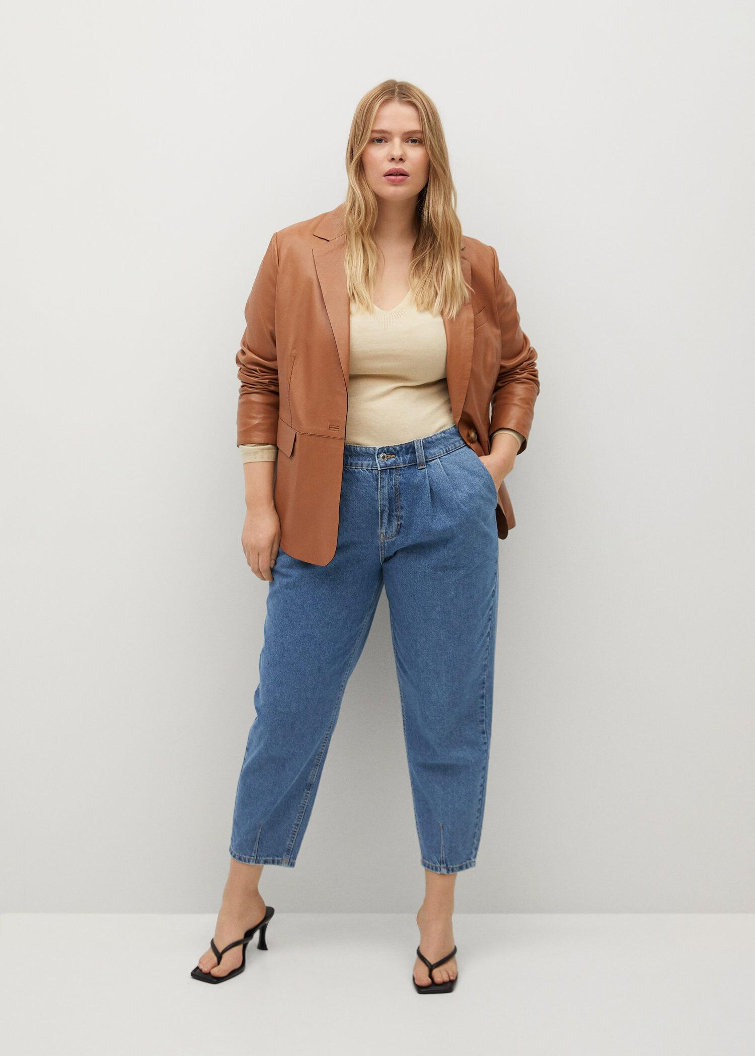 Mid-rise slouchy jeans
