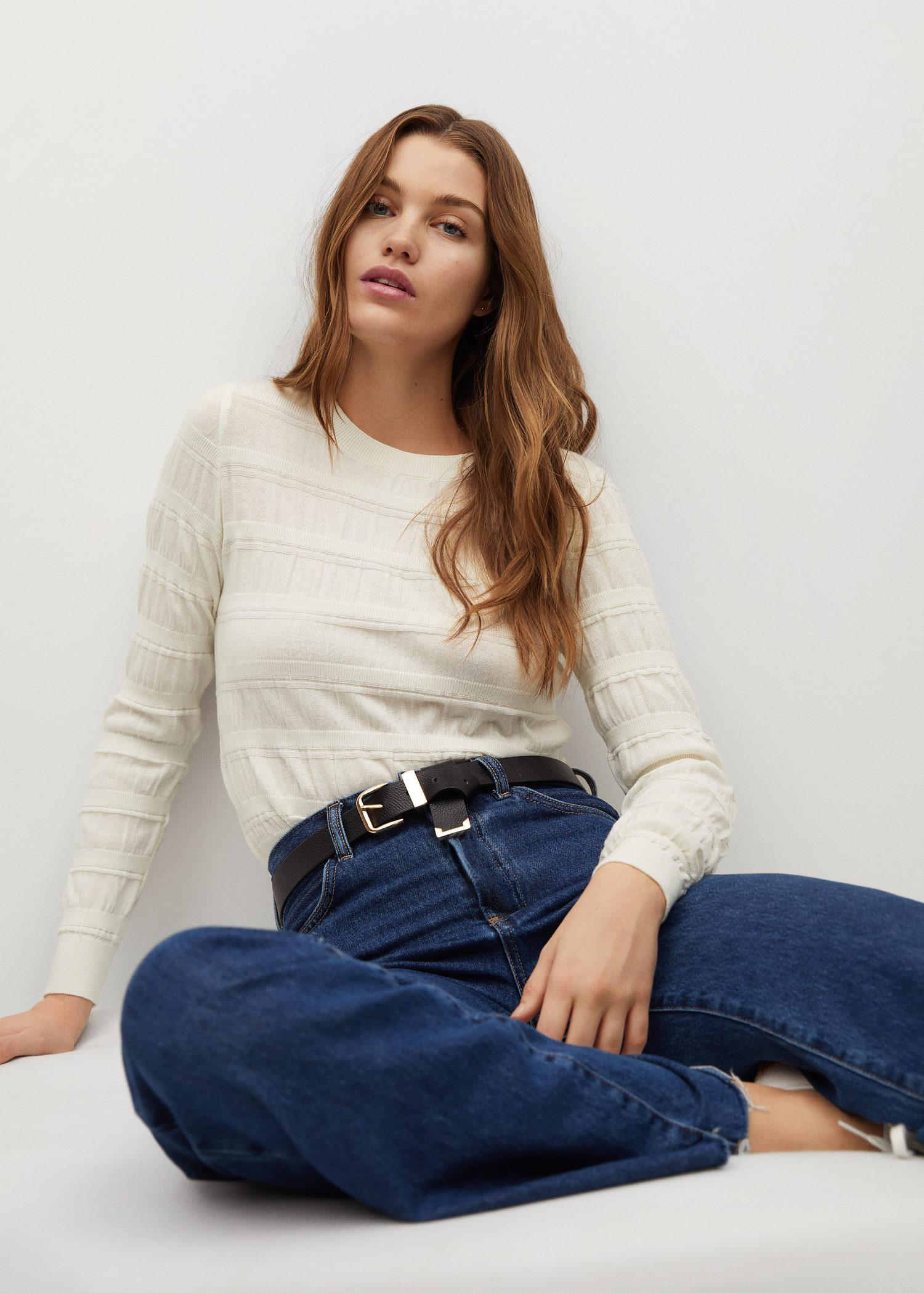 Ruched detail sweater 4