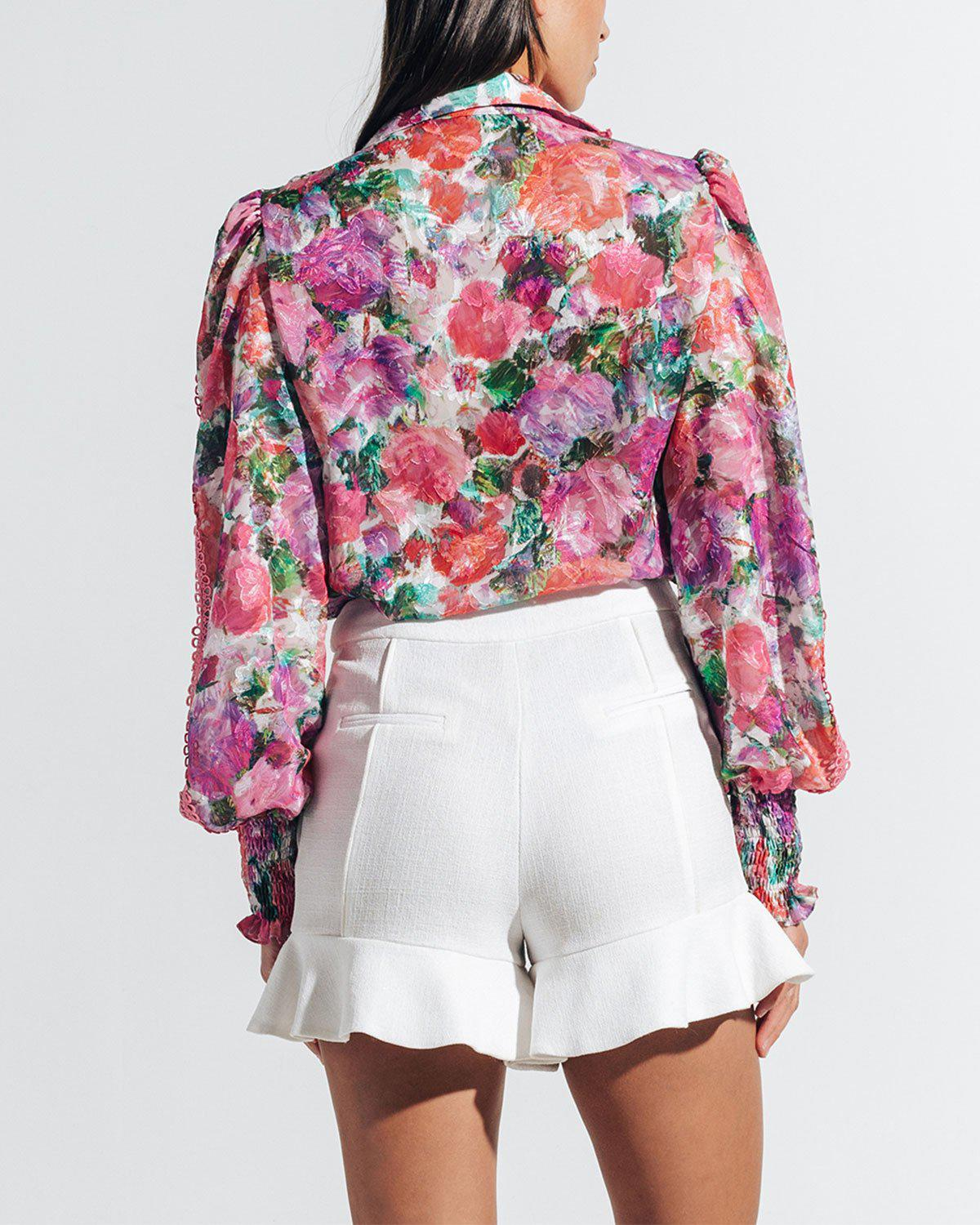BLOSSOM BUTTON-FRONT BLOUSE 4