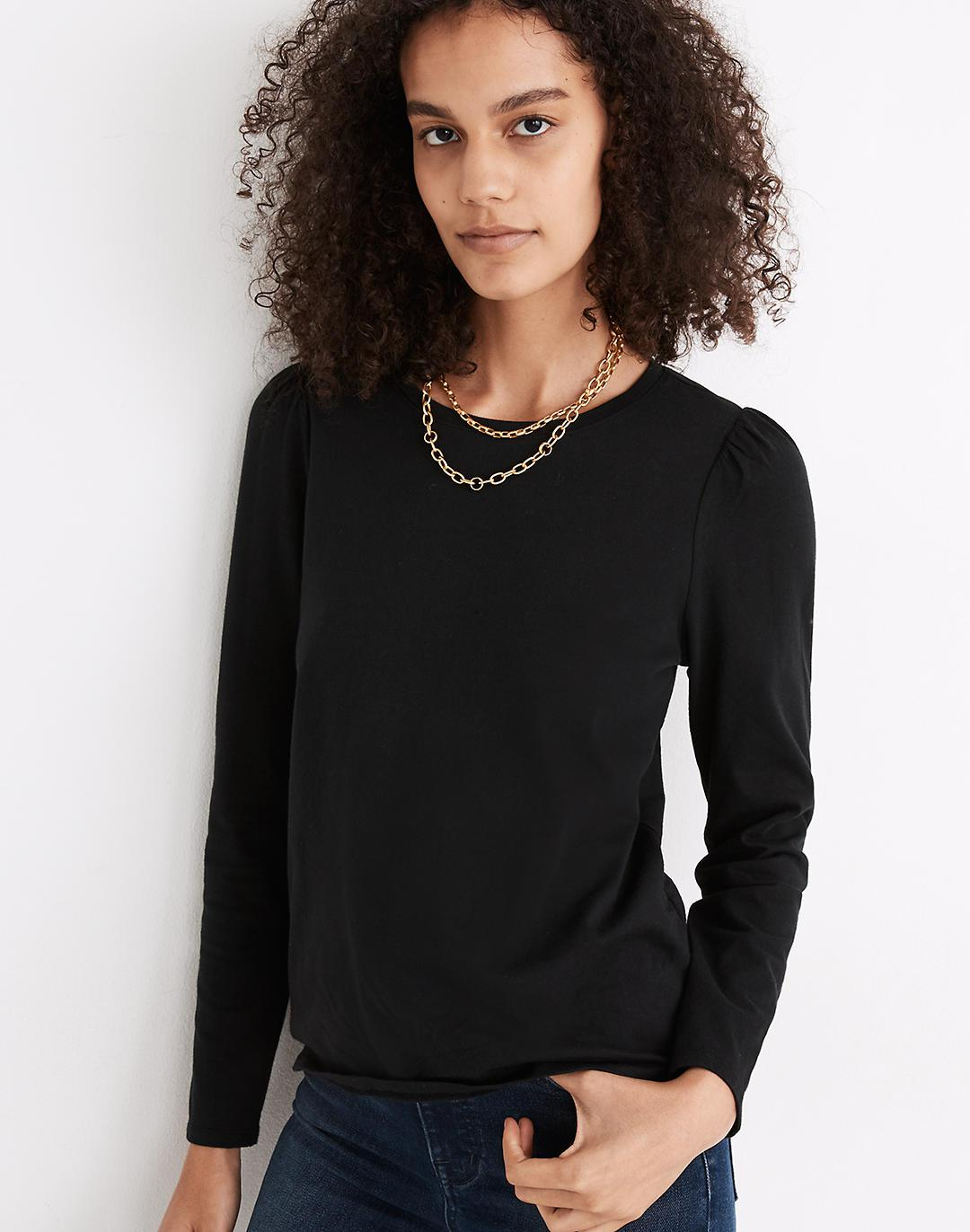 (Re)sourced Cotton Puff-Sleeve Tee 1