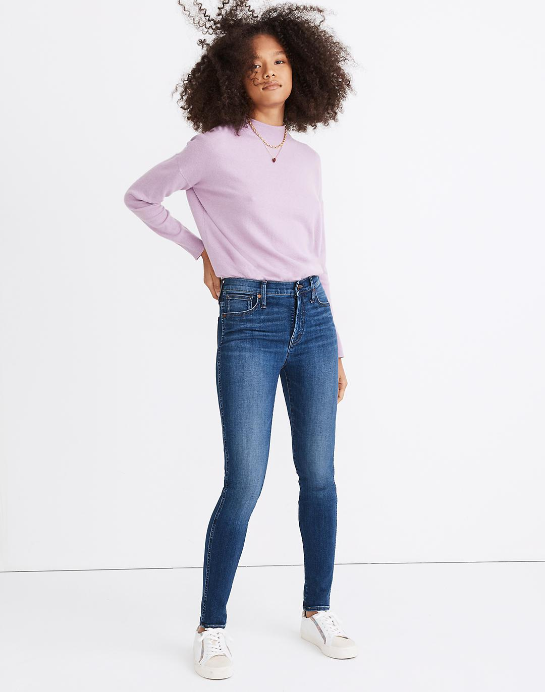 """10"""" High-Rise Skinny Jeans in Bradshaw Wash"""