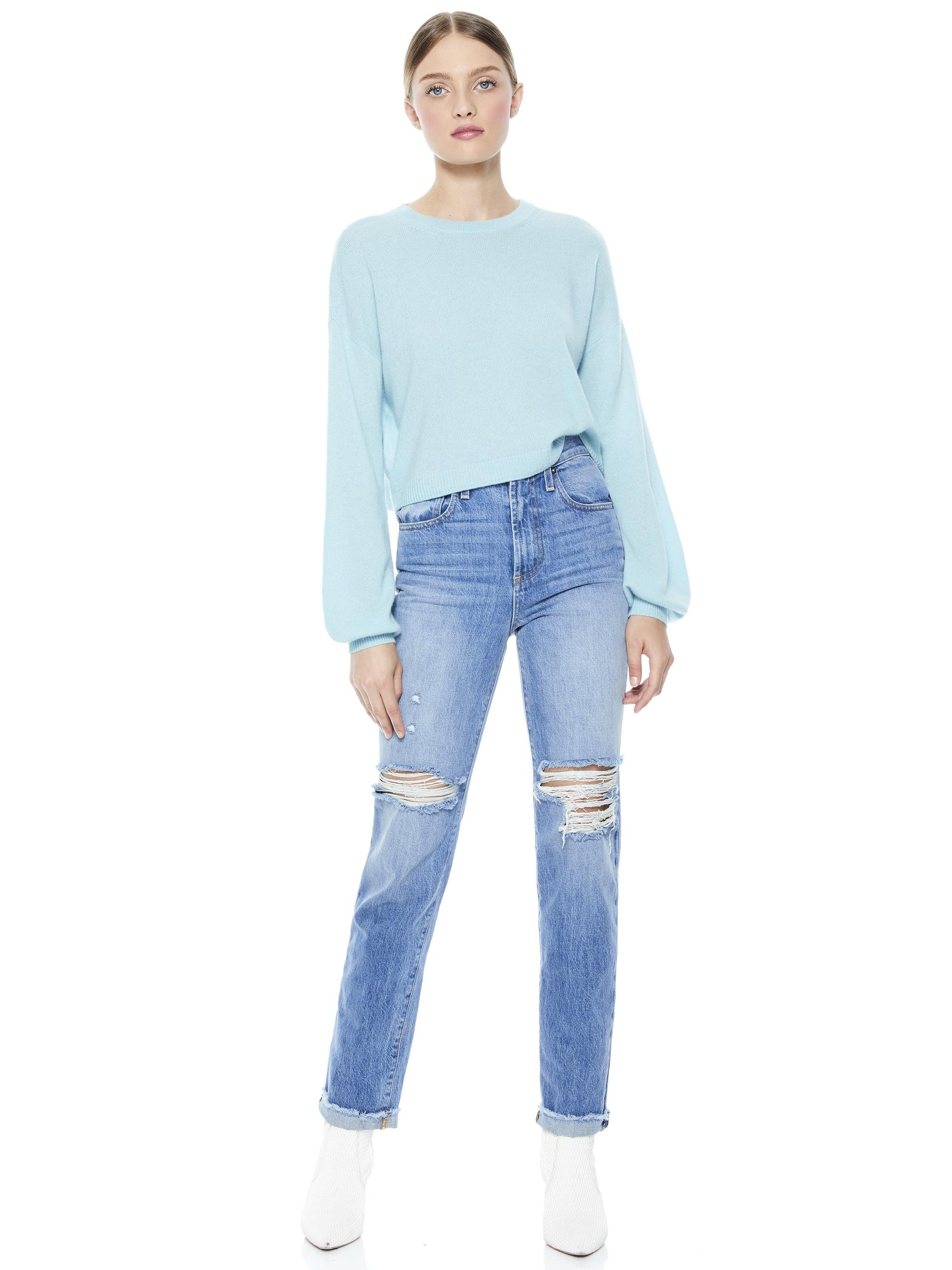 ANSLEY WIDE SLEEVE CROPPED SWEATER 3