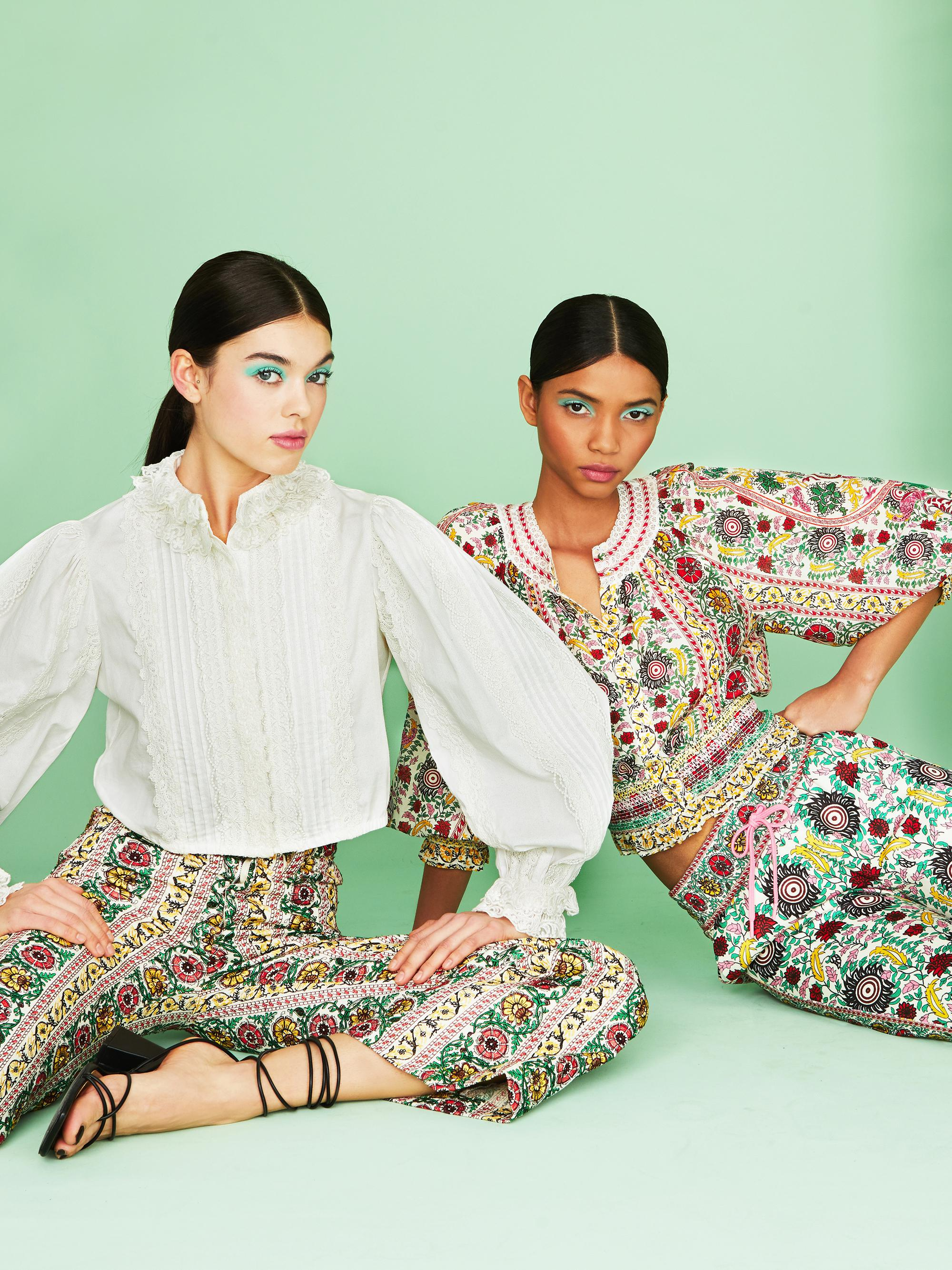 BENEDICT EMBROIDERED FLARE PANT 8
