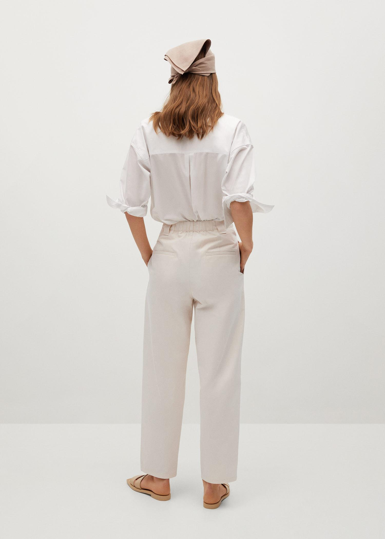 Pleat straight trousers 2