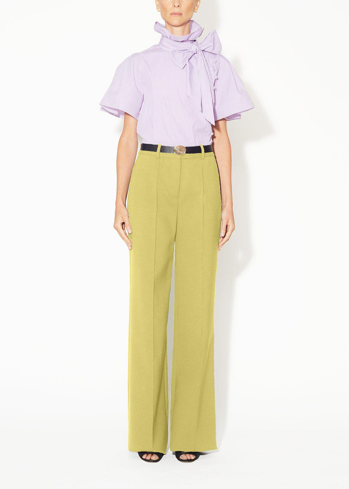 PINTUCK WIDE-LEG TROUSER IN WOOL CASHMERE SUITING