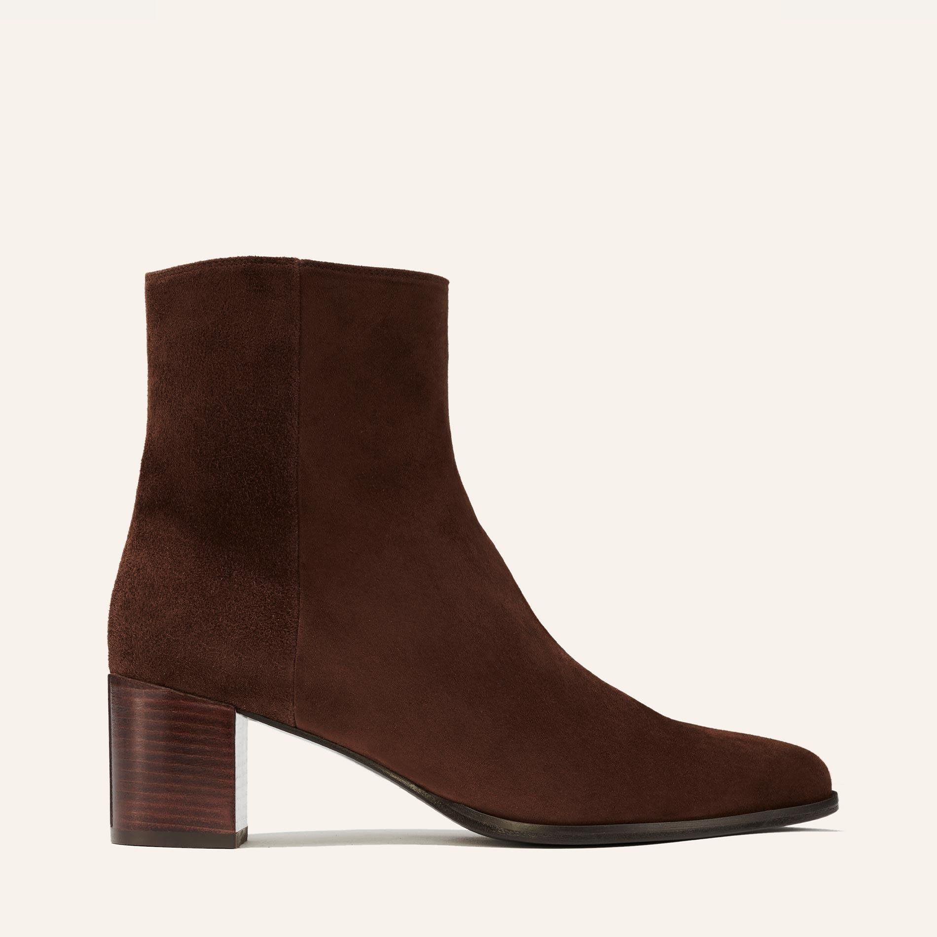 The Downtown Boot - Chocolate Suede