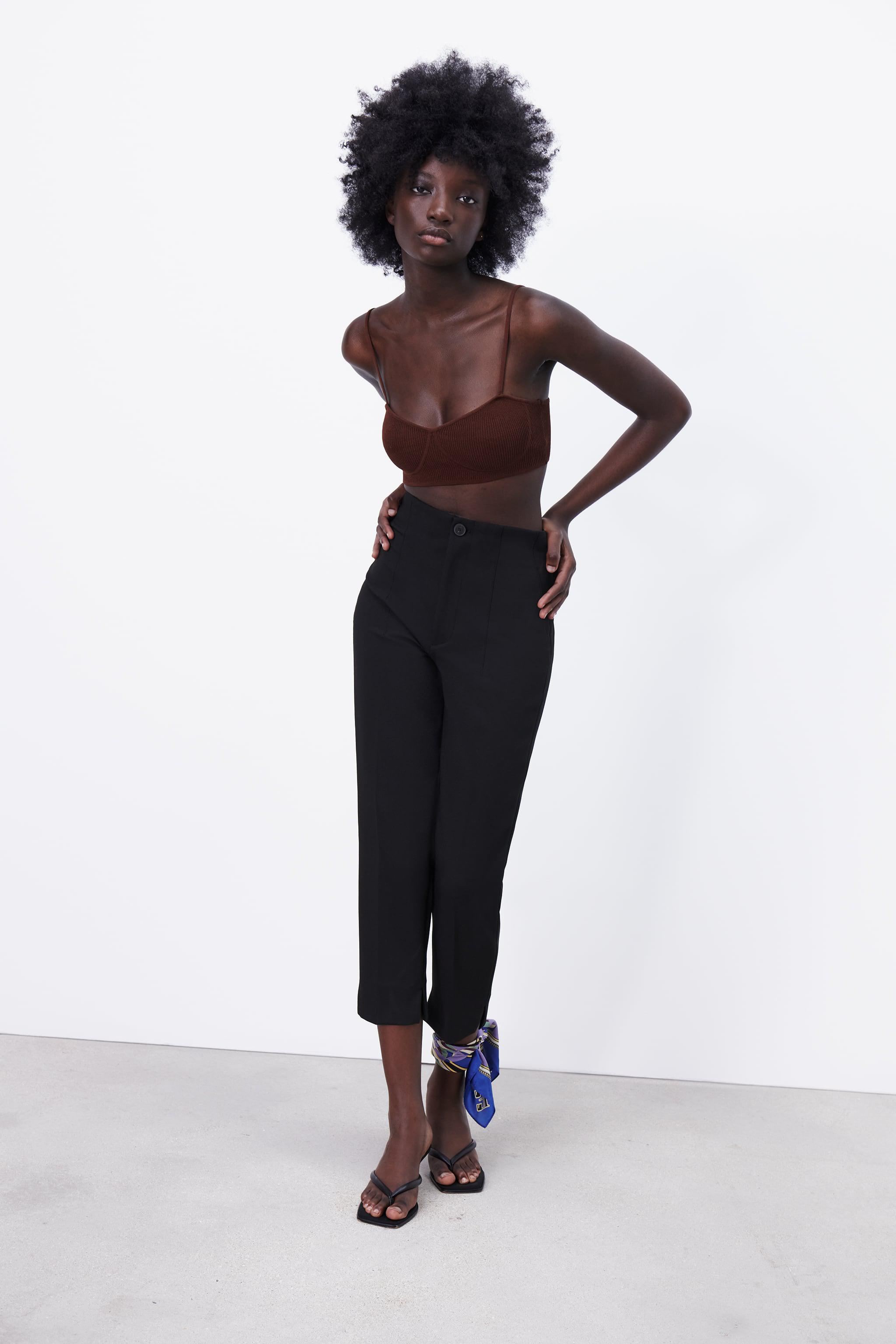 HIGH-WAISTED PANTS WITH VENTS