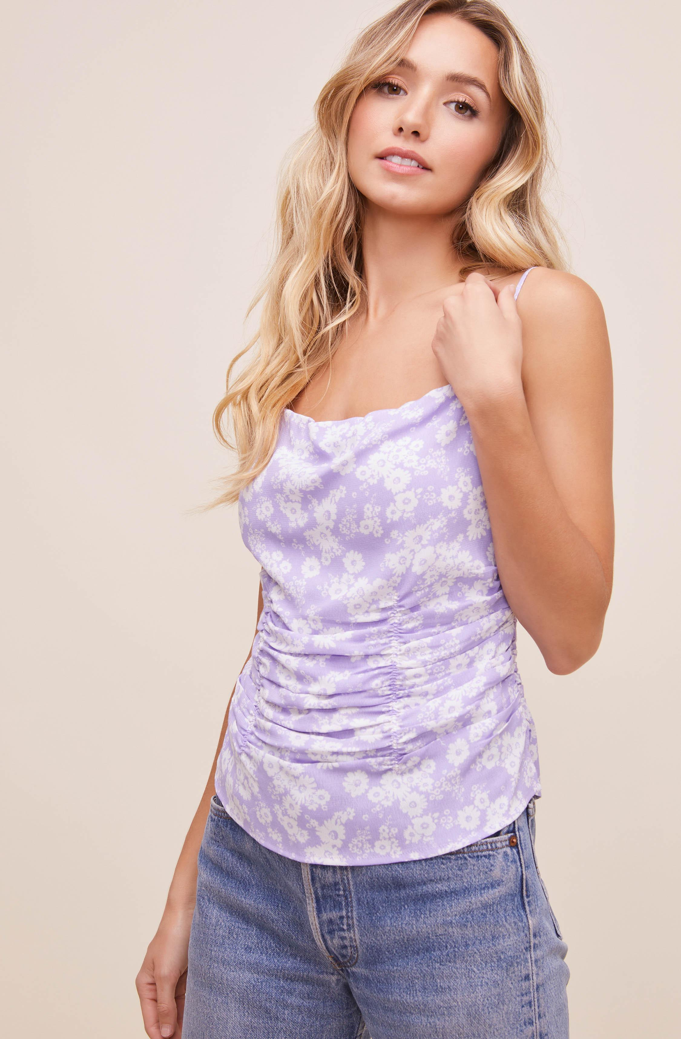 Ruched Floral Cami 0
