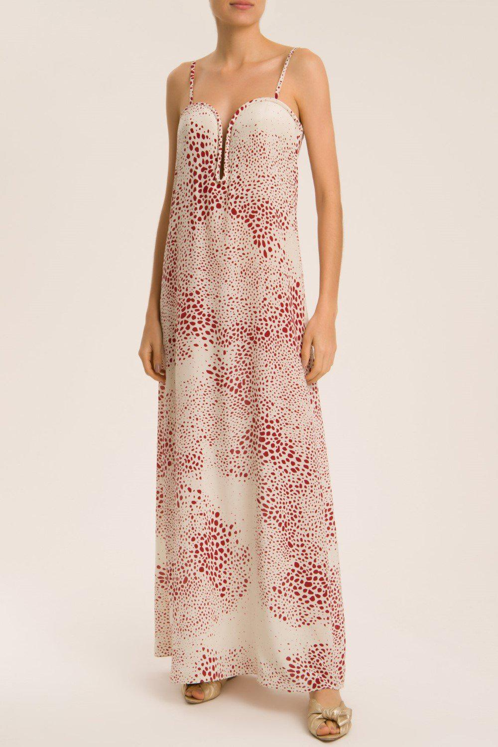 Serpent Long Dress With Straps