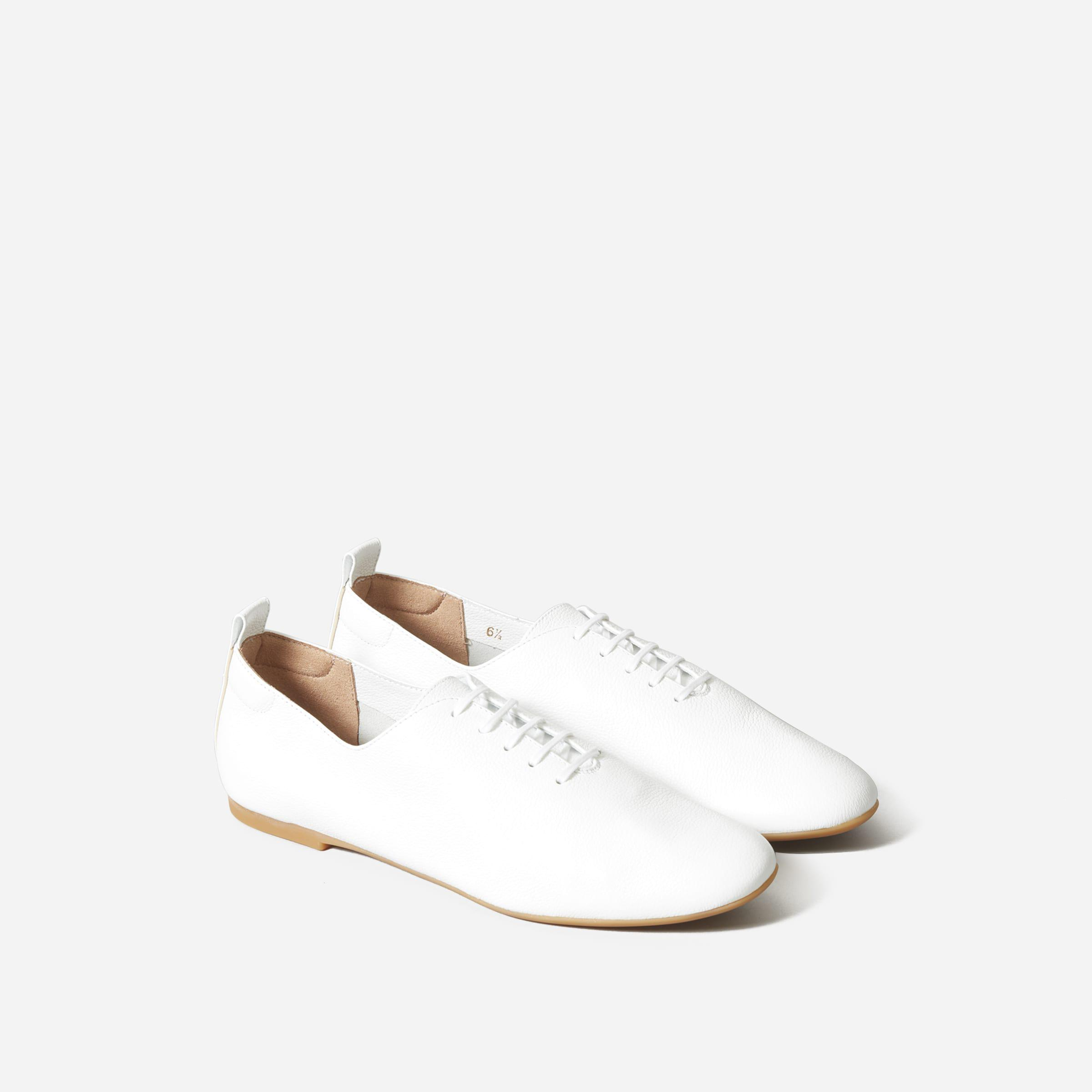 The Leather Lace-Up Flat 1