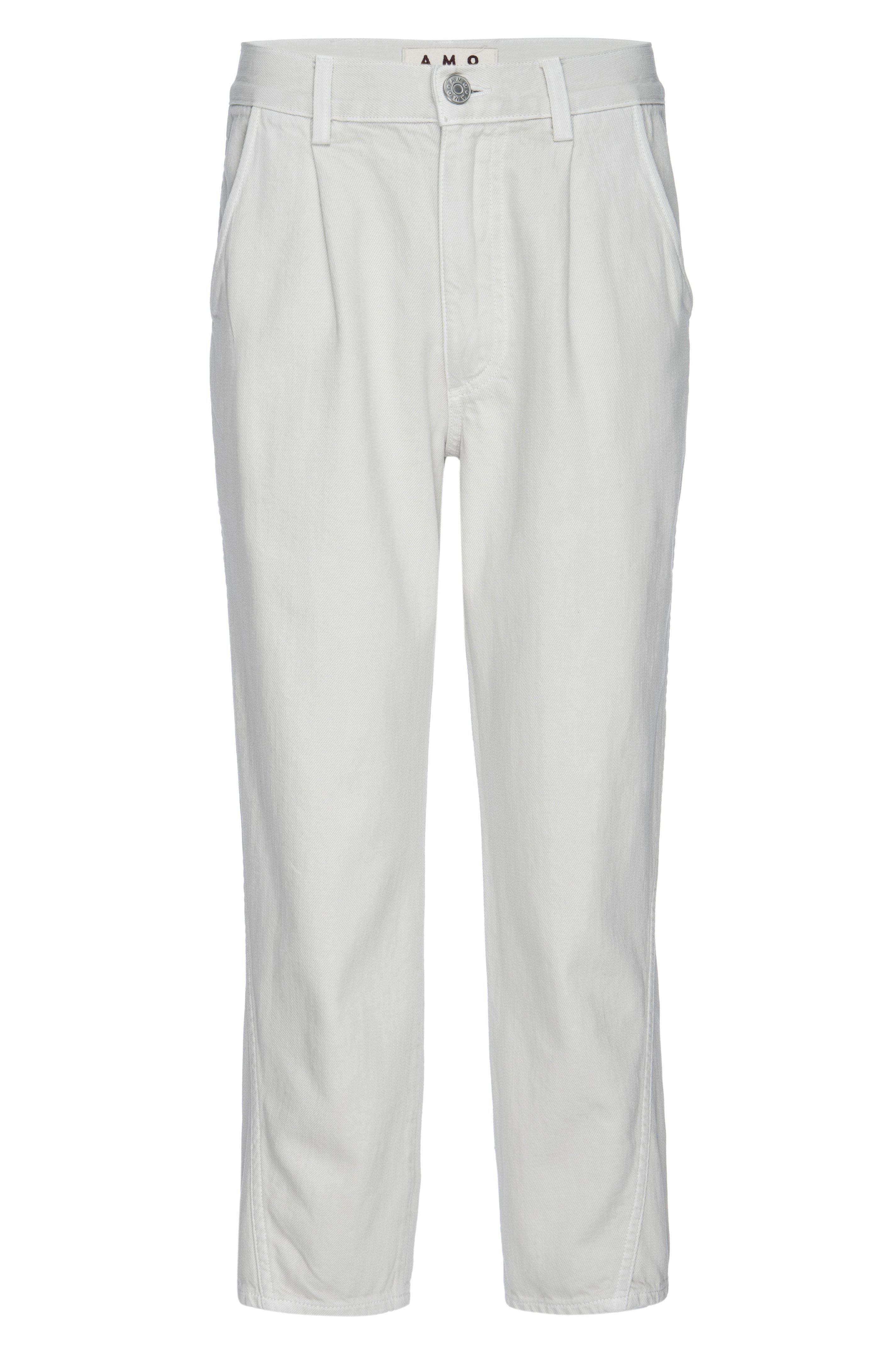 PLEATED SLOUCH TROUSER VINTAGE WHITE 3