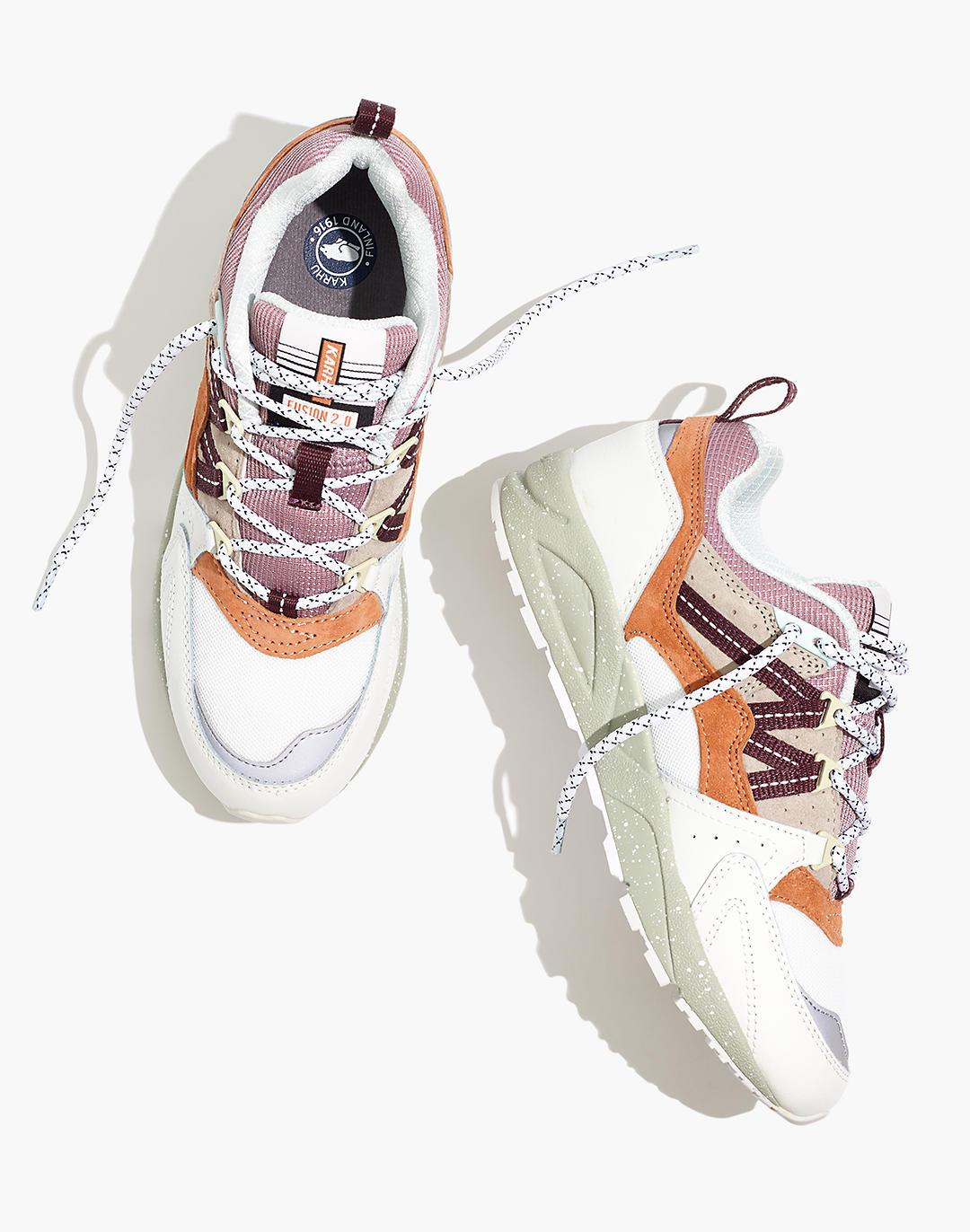 Karhu Unisex Fusion 2.0 Lace-Up Sneakers in Rainy Day