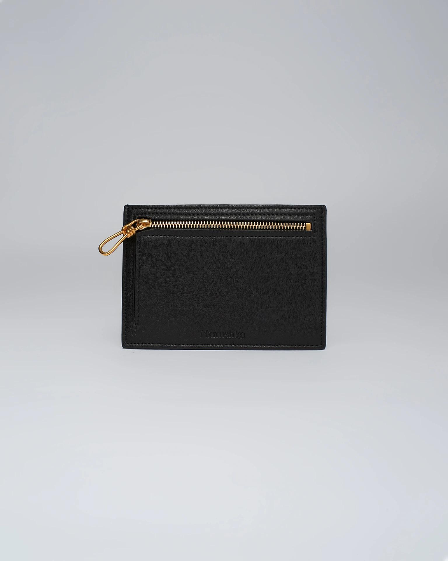 ARATON - Leather coin wallet - Black