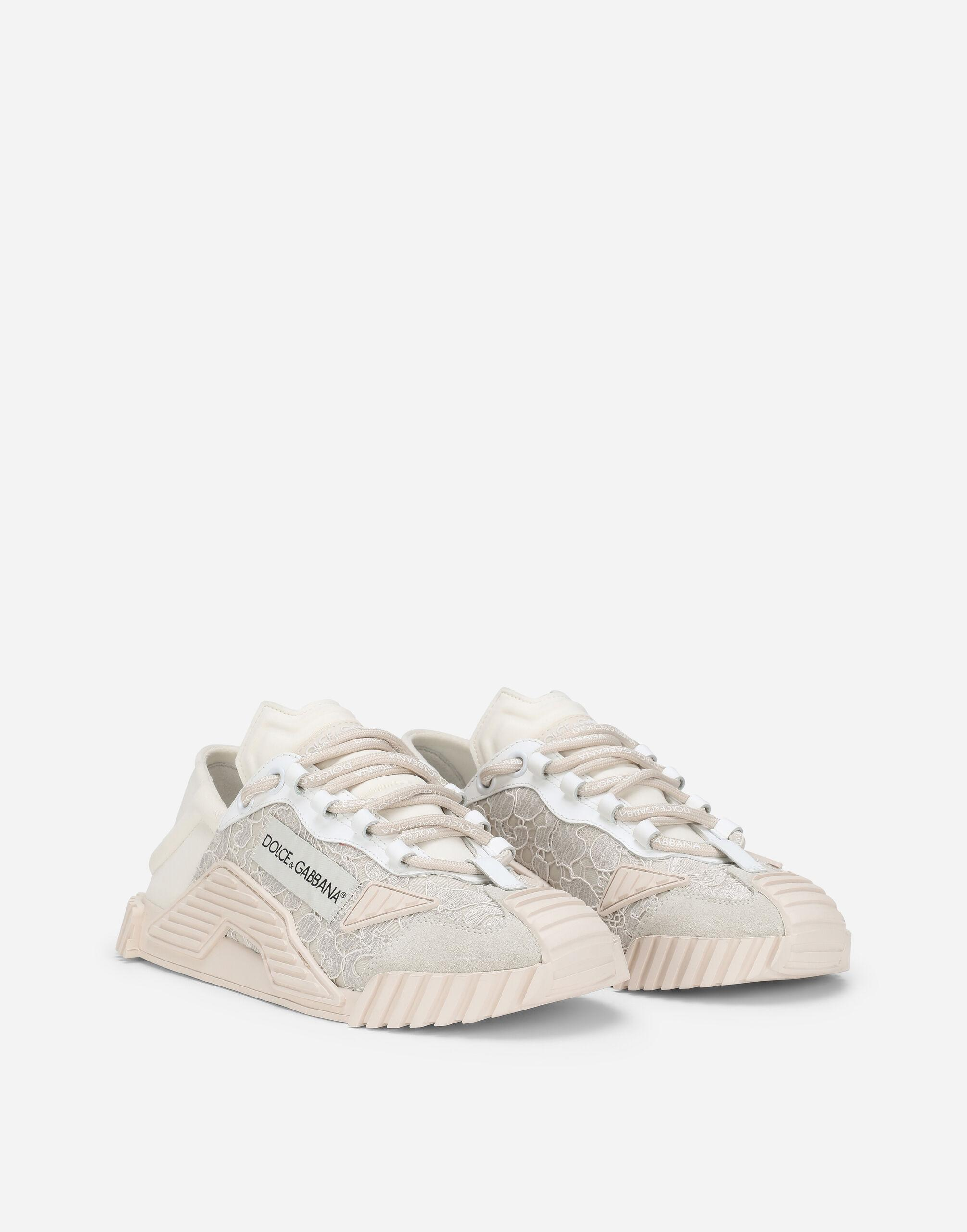Mixed-materials NS1 slip-on sneakers 1