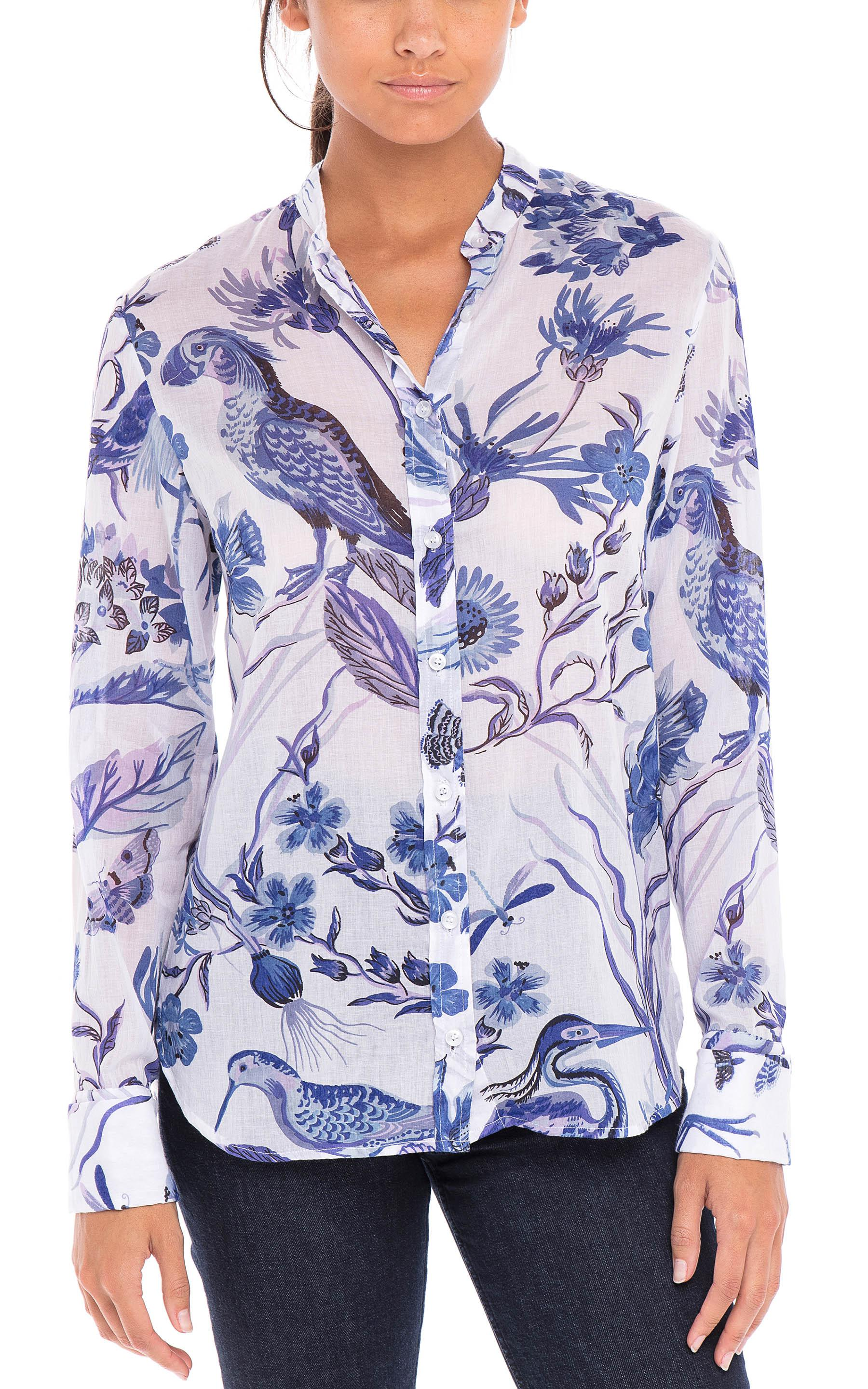 Alfreda Shirt Jubilee Blue - White