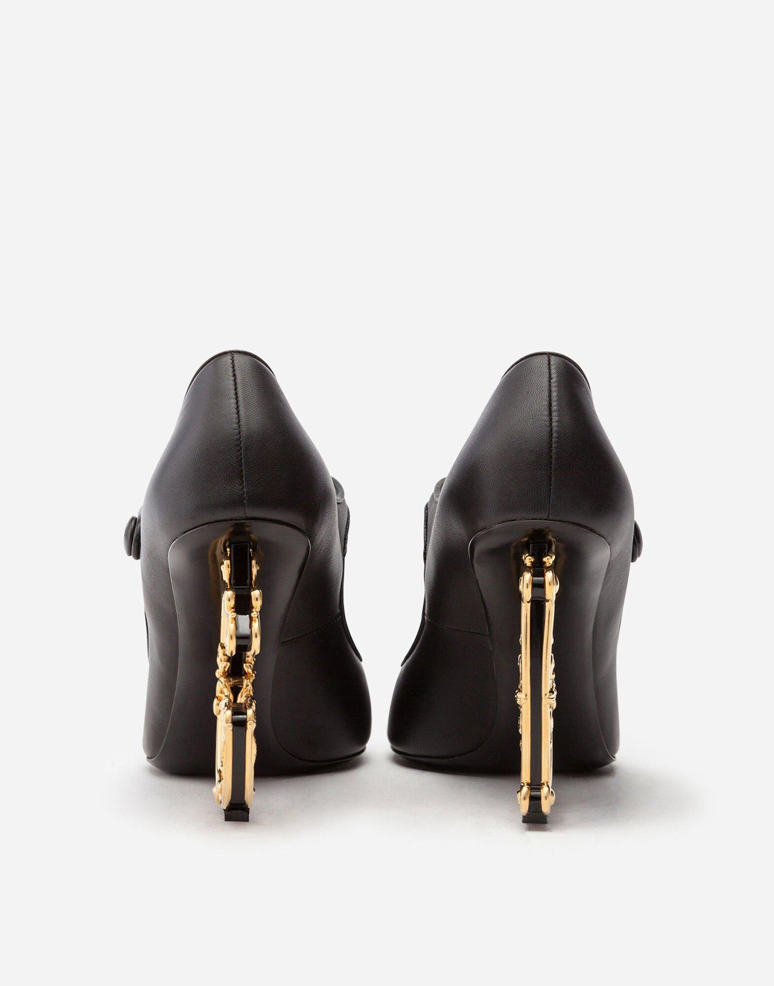 Nappa leather Mary Jane with baroque D&G heel 2