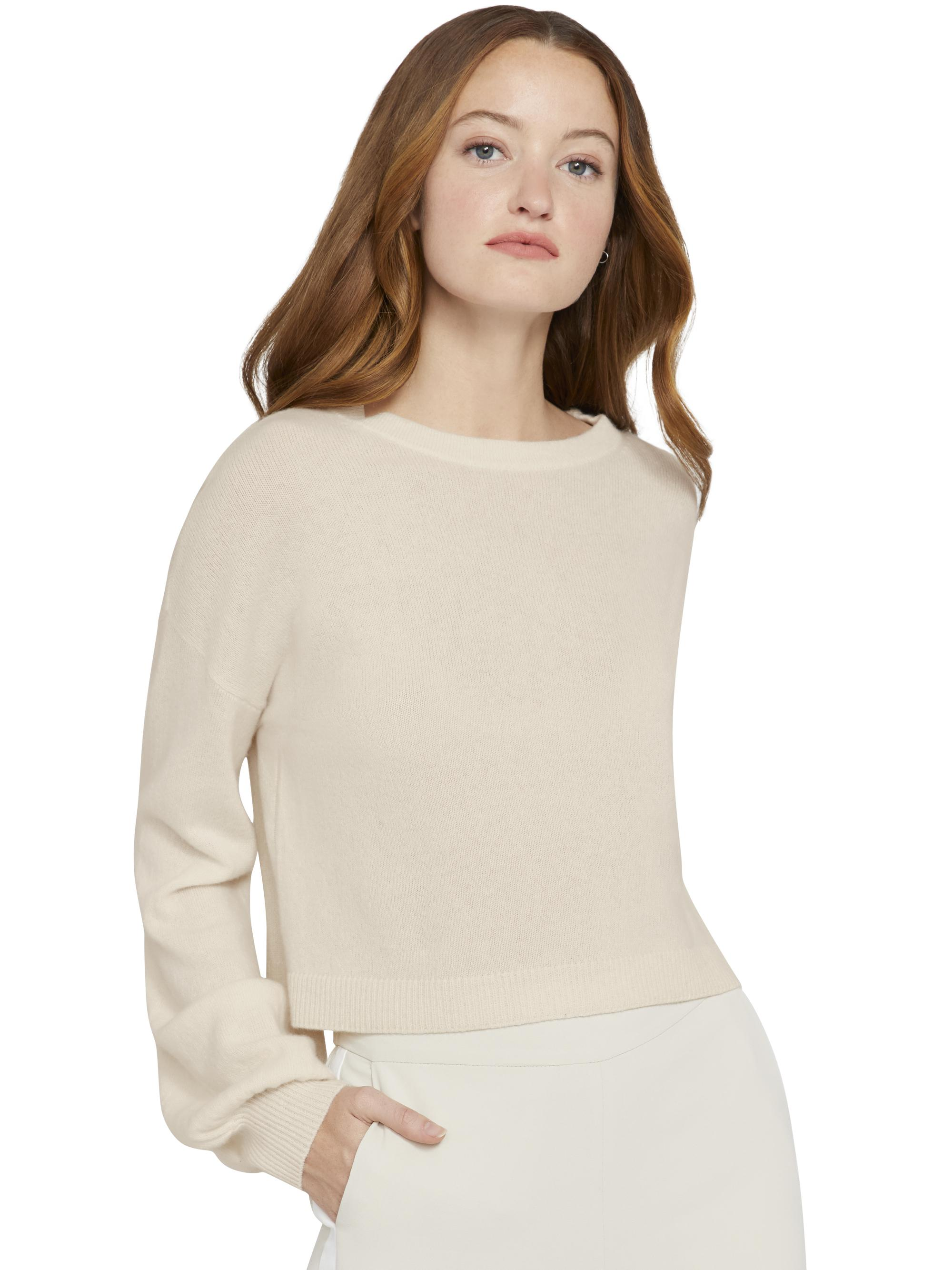 ANSLEY WIDE SLEEVE CROPPED SWEATER