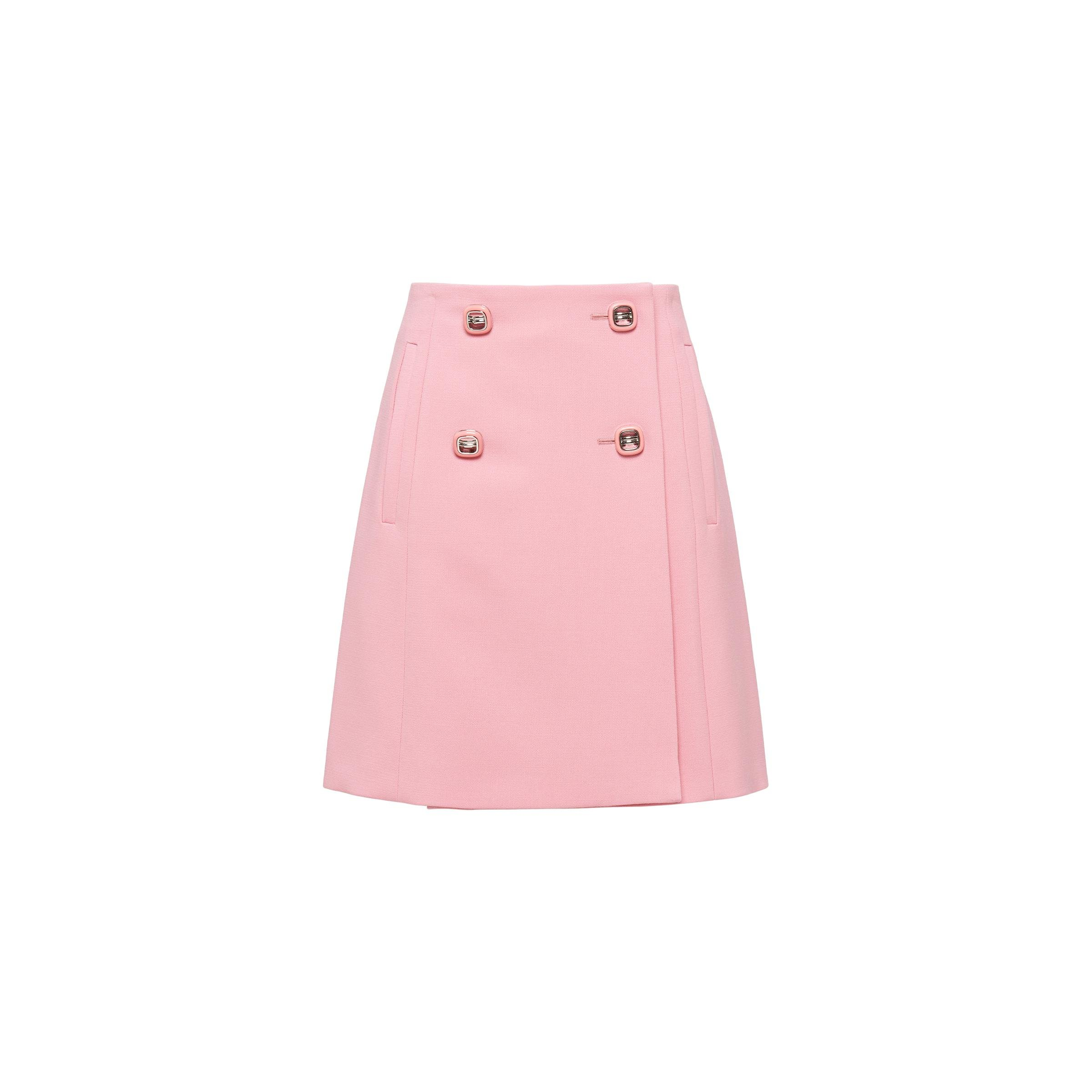 Natté Toile Skirt Women Pink