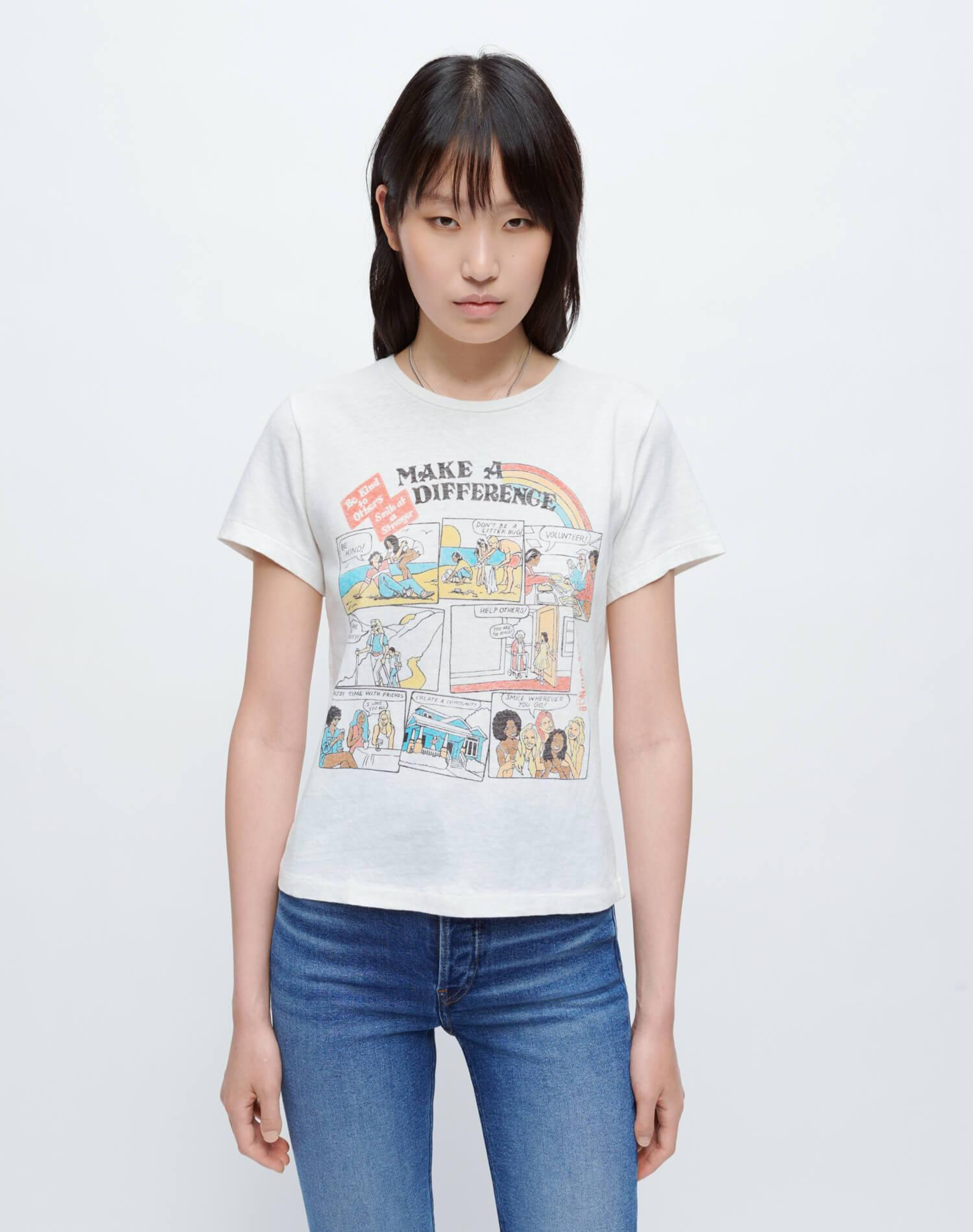 """Classic """"Make A Difference"""" Tee - Vintage White"""
