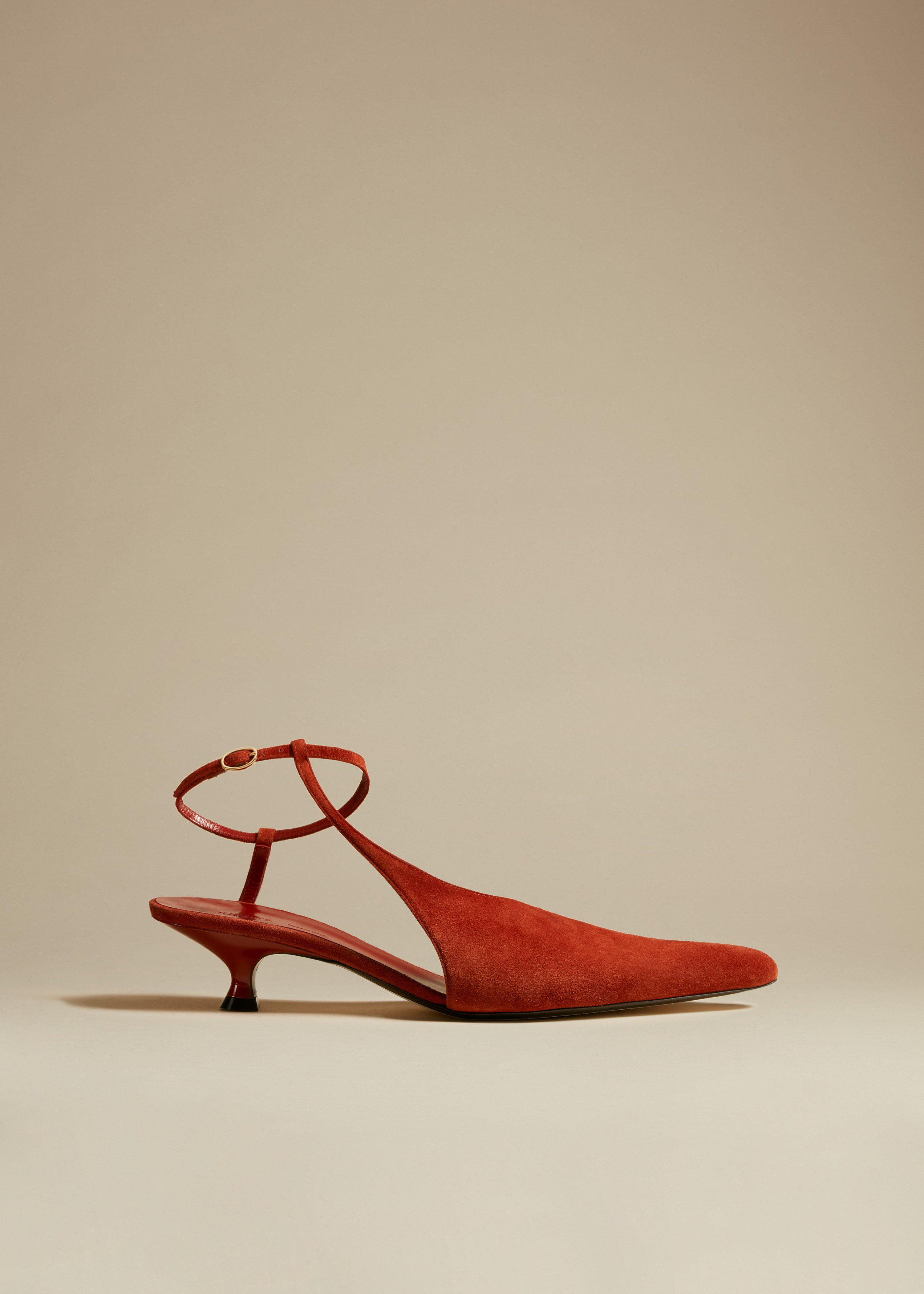 The Seville Pump in Rust Suede