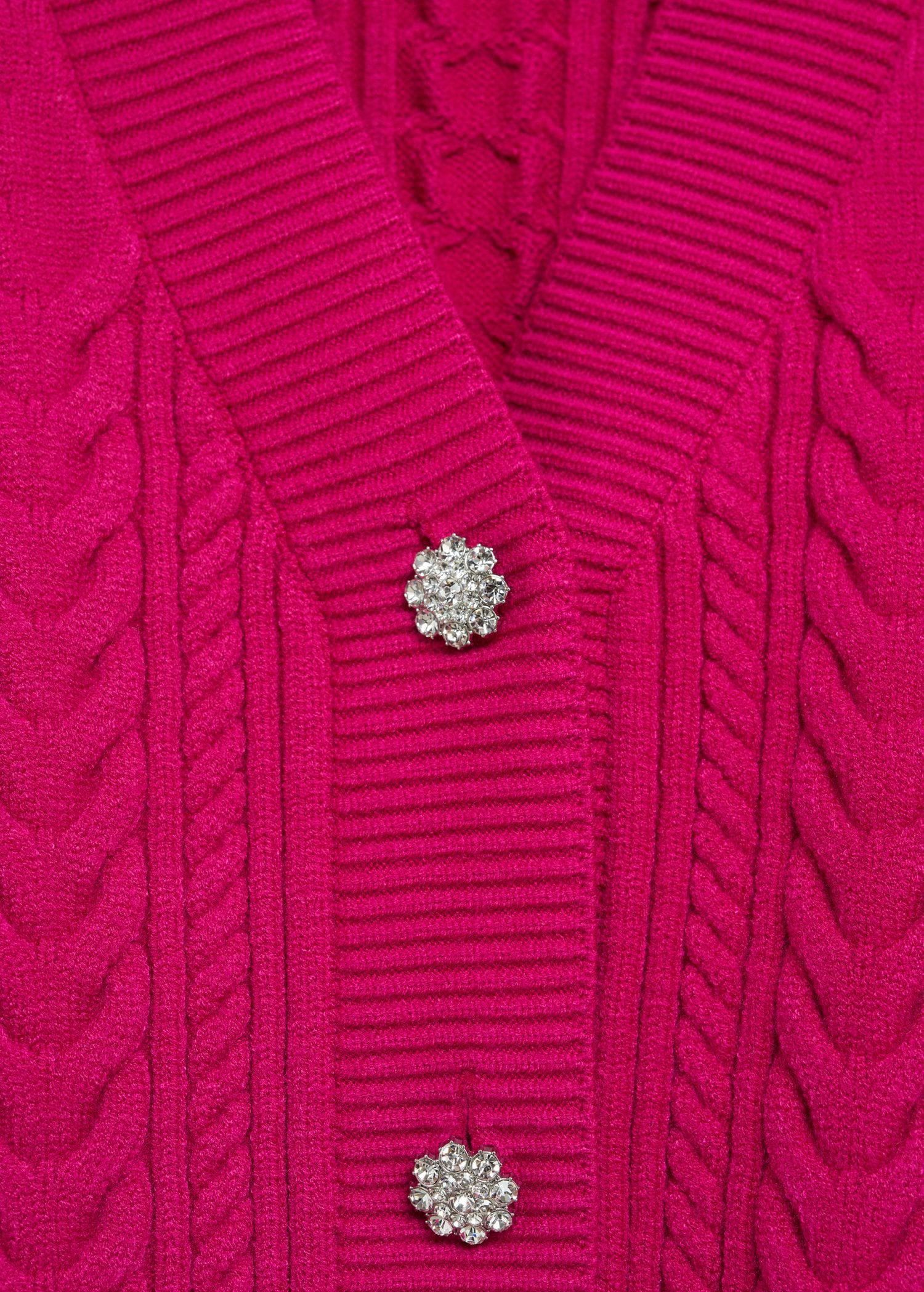 Combined knitted cardigan 6