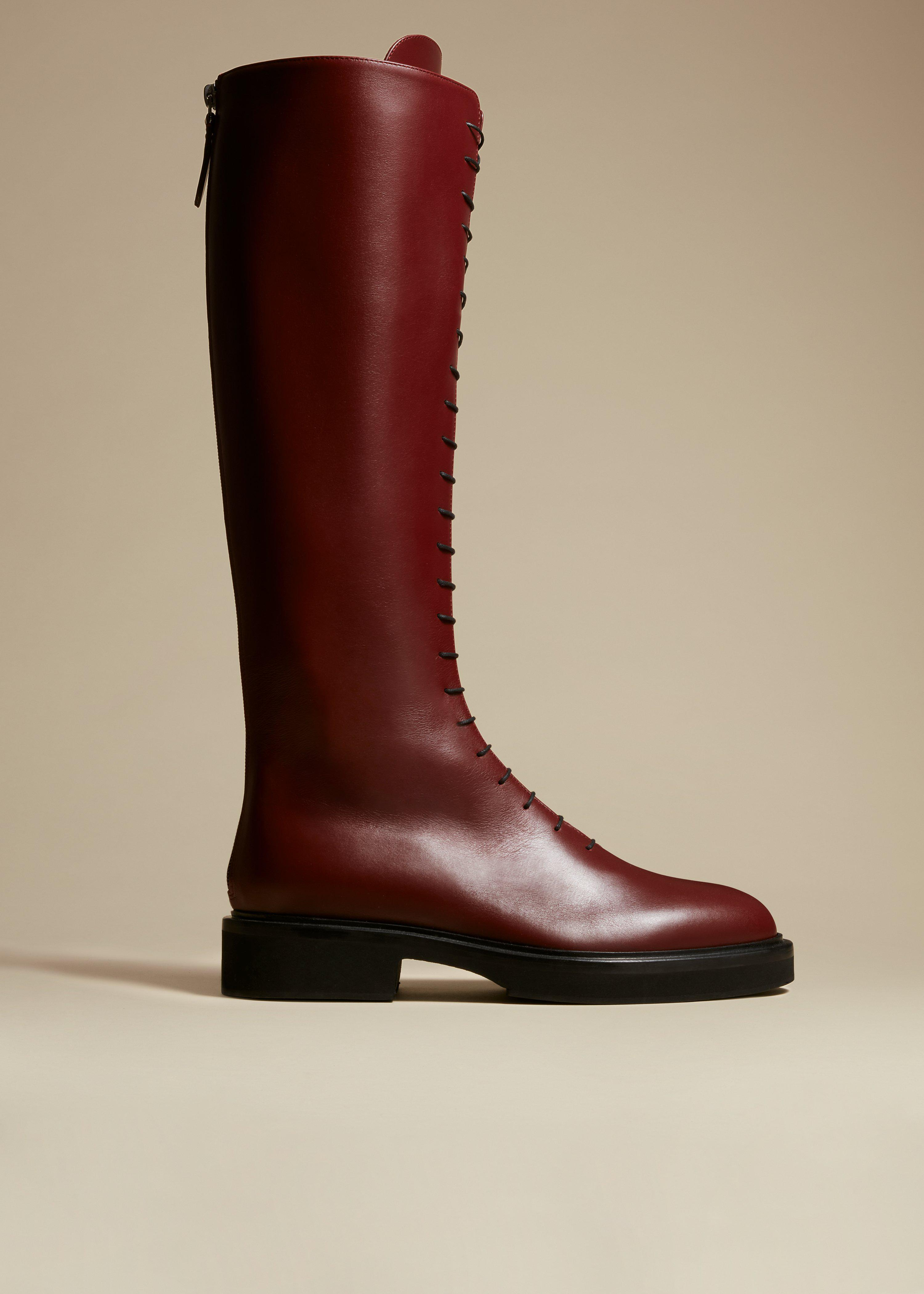 The York Boot in Bordeaux Leather
