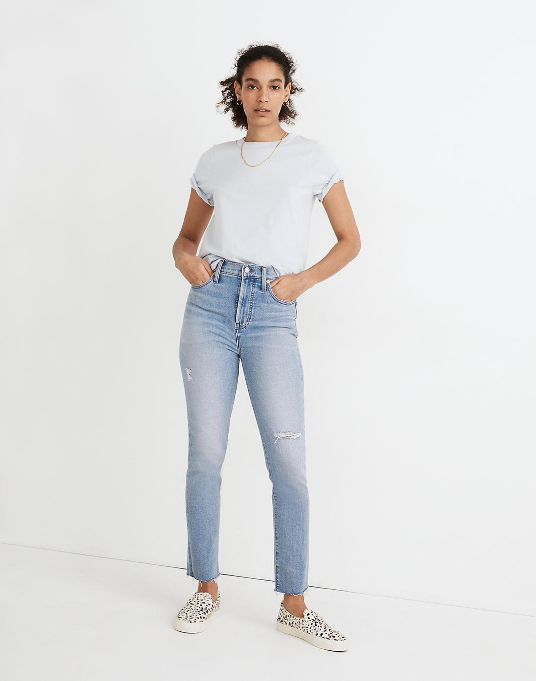 The Petite Perfect Vintage Jean in Coffey Wash: Worn-In Edition