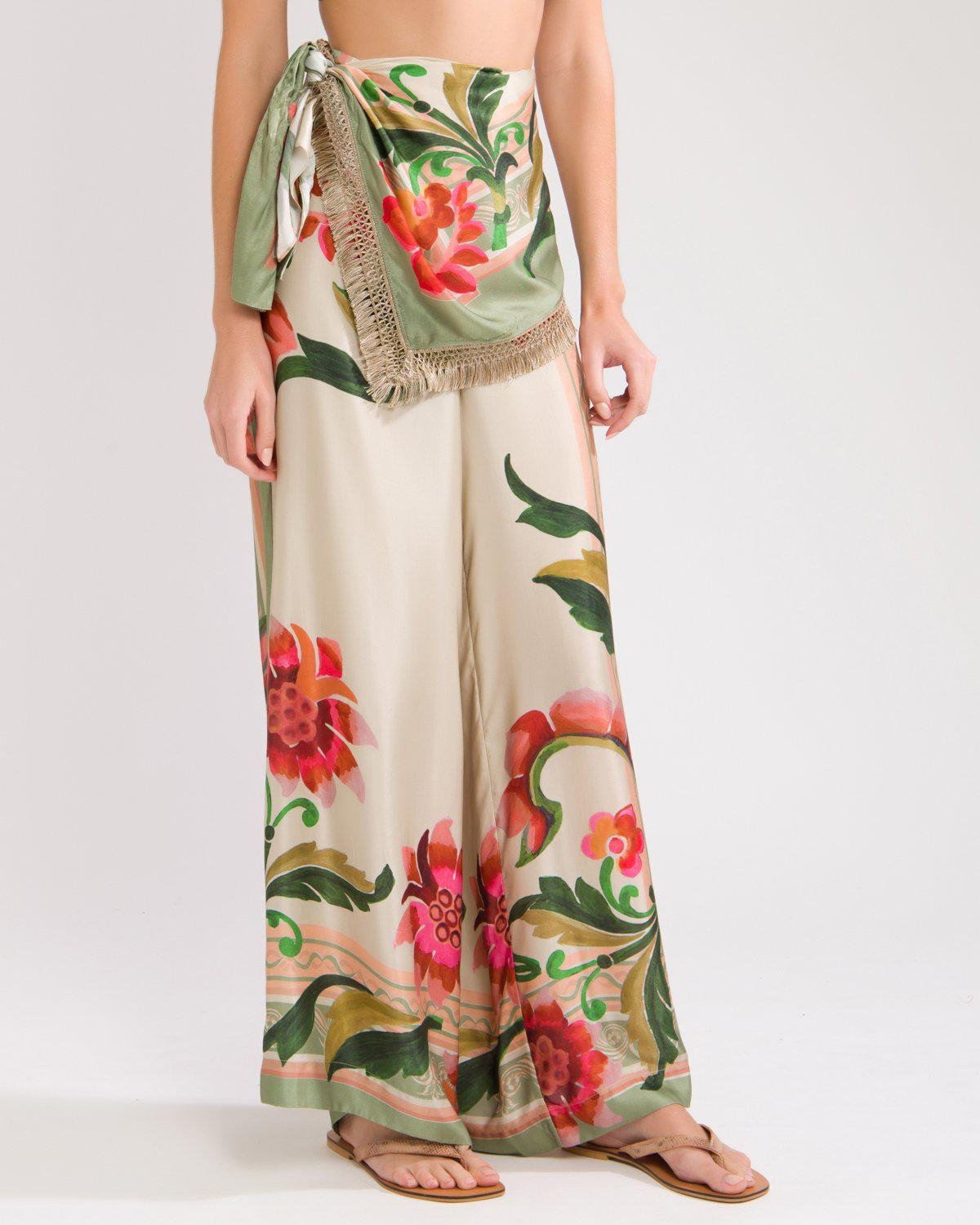 DRAPE-FRONT CROPPED PANT