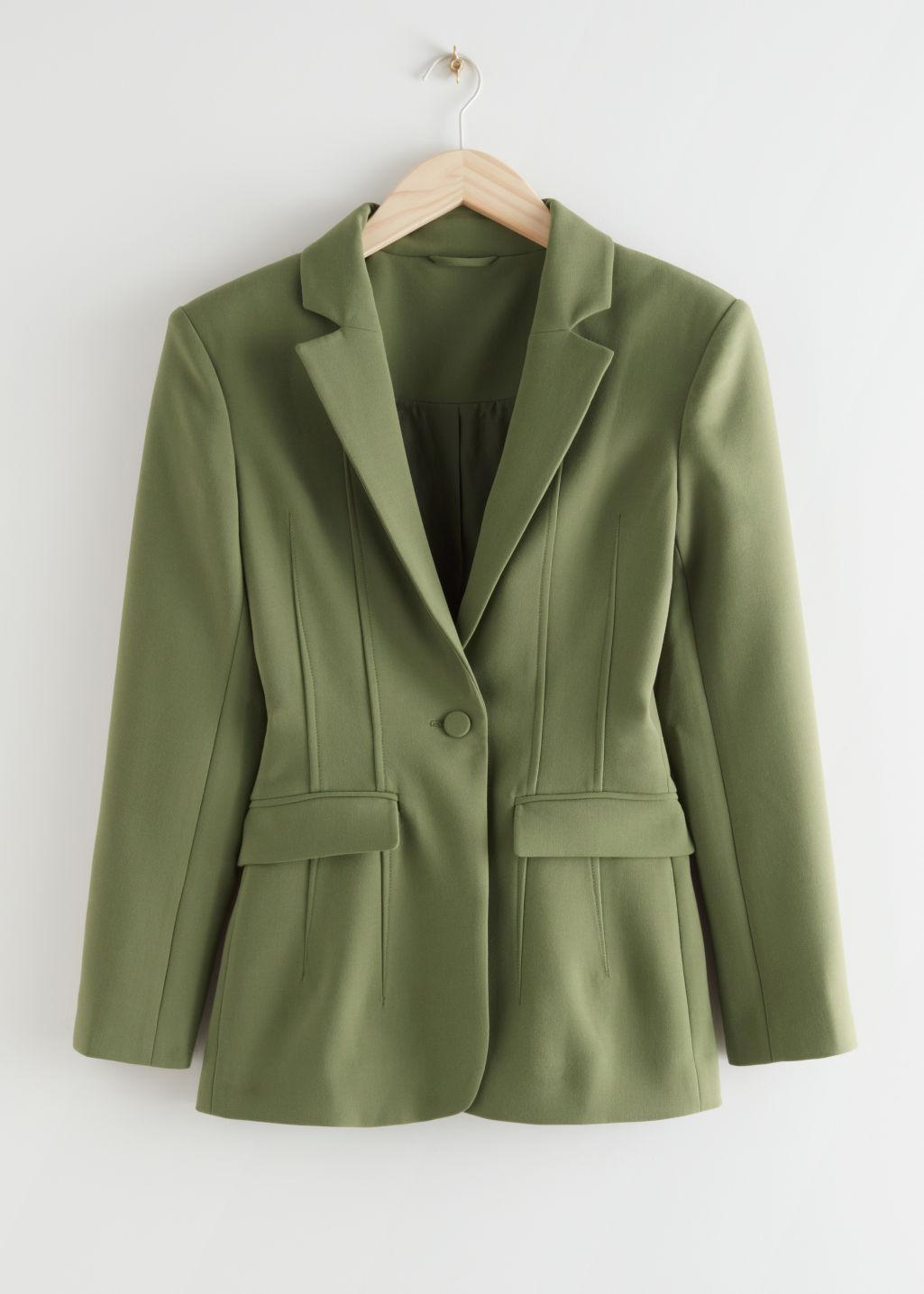 Fitted Single Breasted Blazer