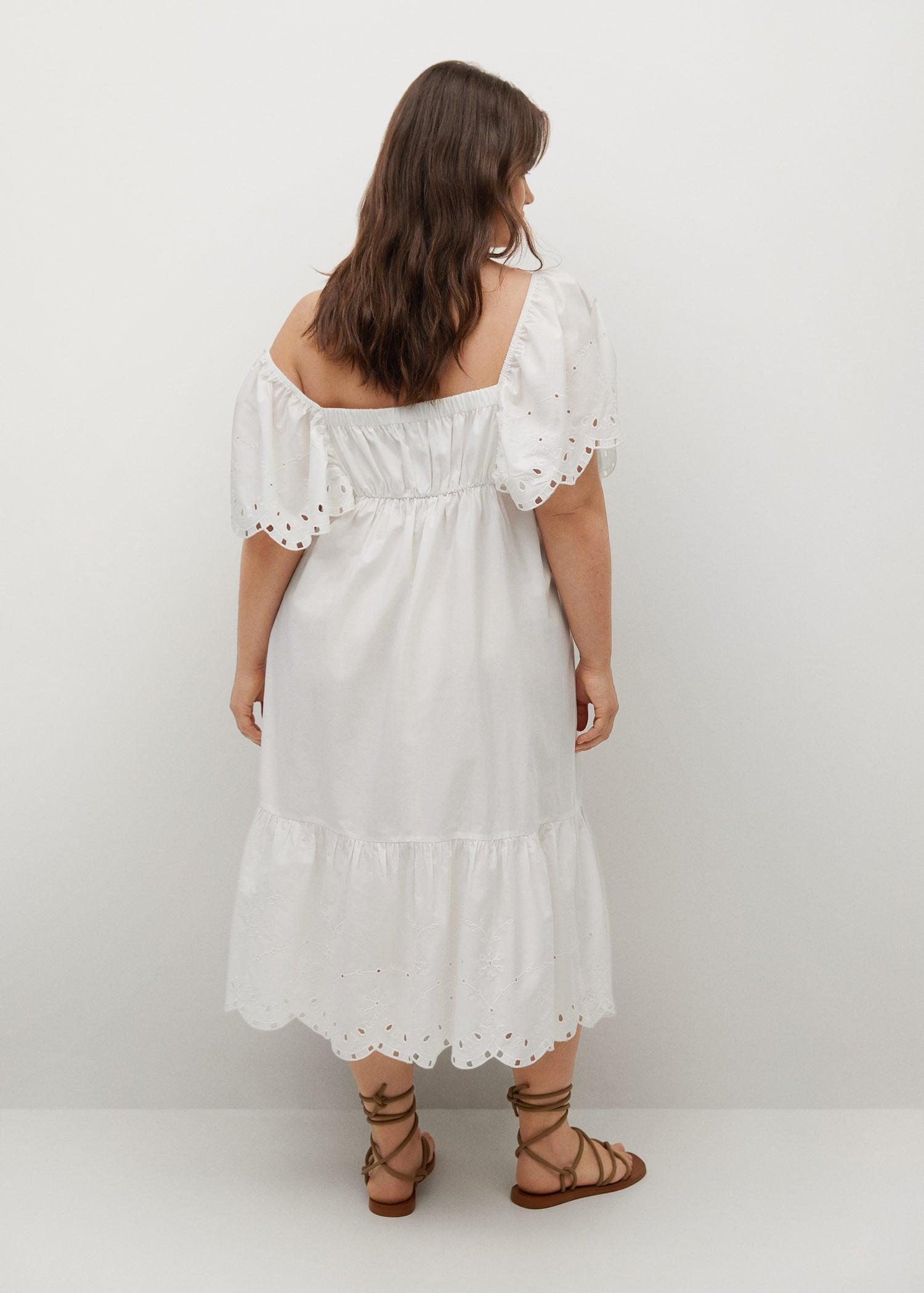 Embroidered cotton dress 2