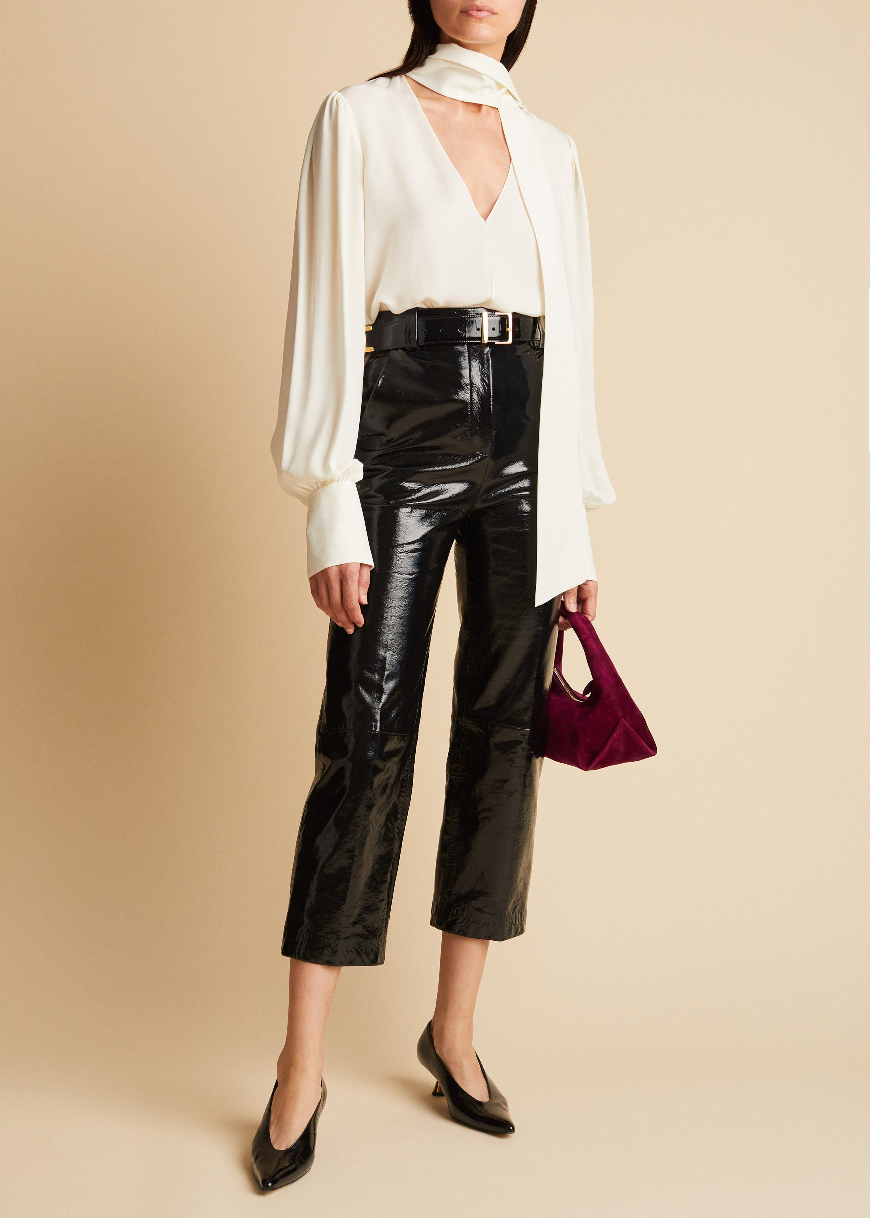 The Melie Pant in Black Patent Leather