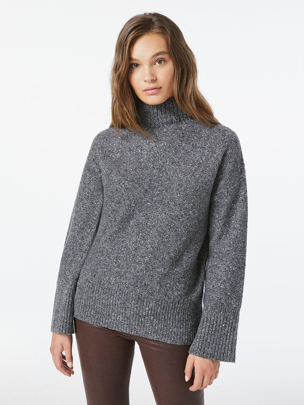 High Low Turtle Neck