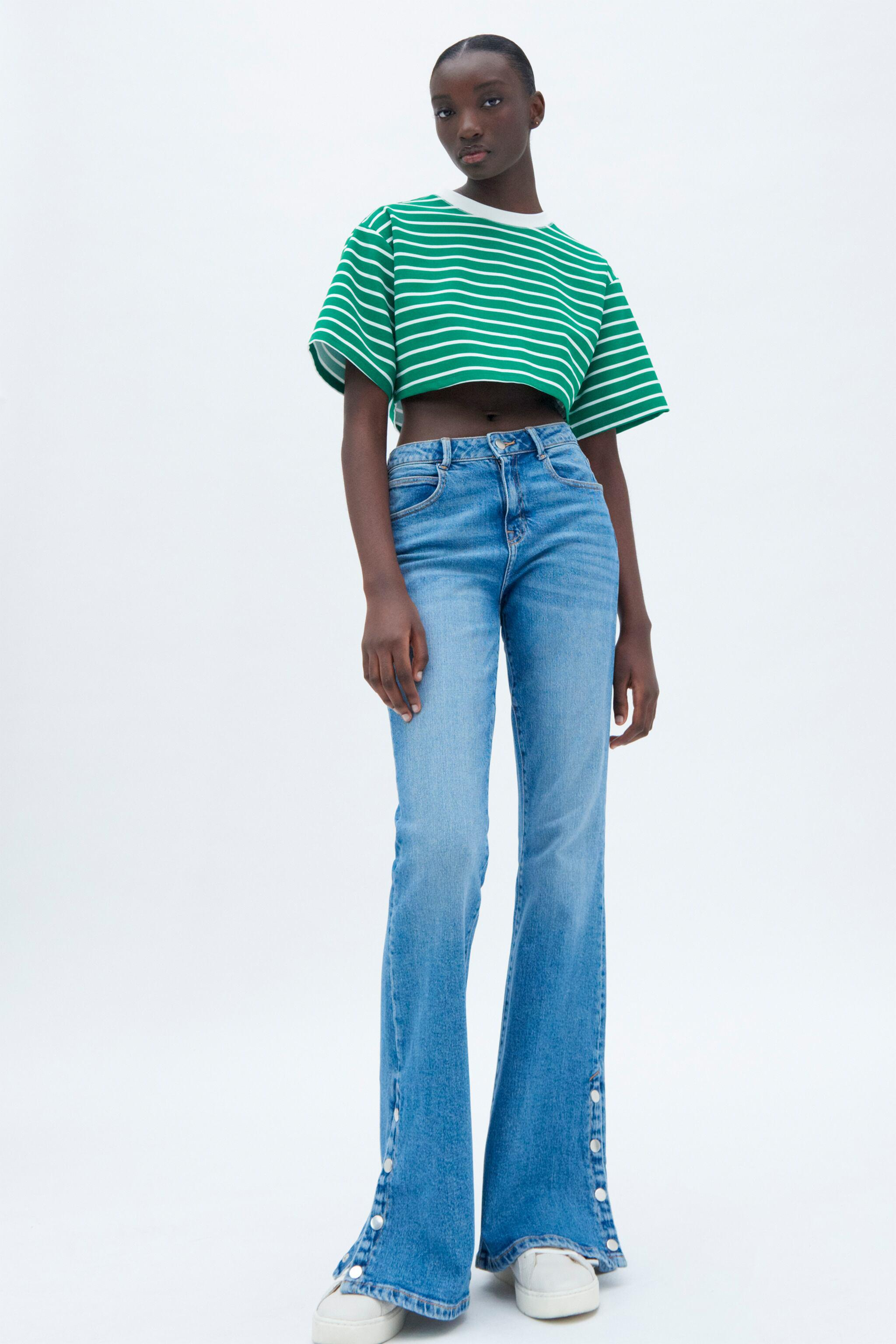 Z1975 HIGH RISE BUTTON FLY FLARED JEANS