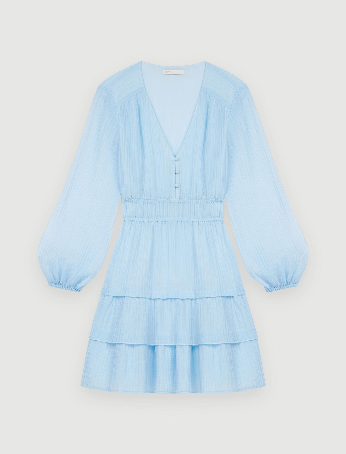 CRINKLE-EFFECT VOILE DRESS WITH RUFFLES 5
