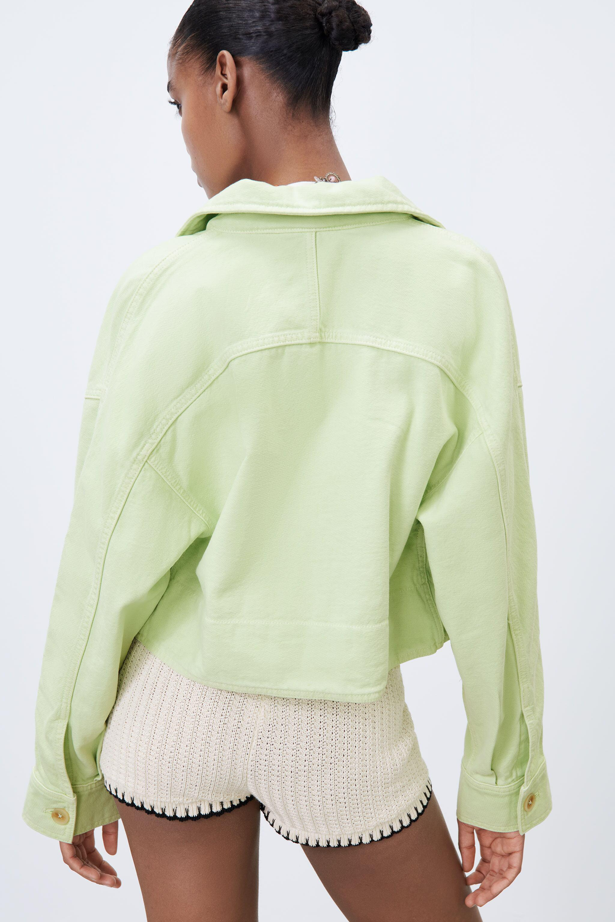 SOLID COLOR CROPPED OVERSHIRT 3