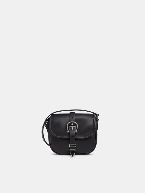 Small black leather Rodeo Bag