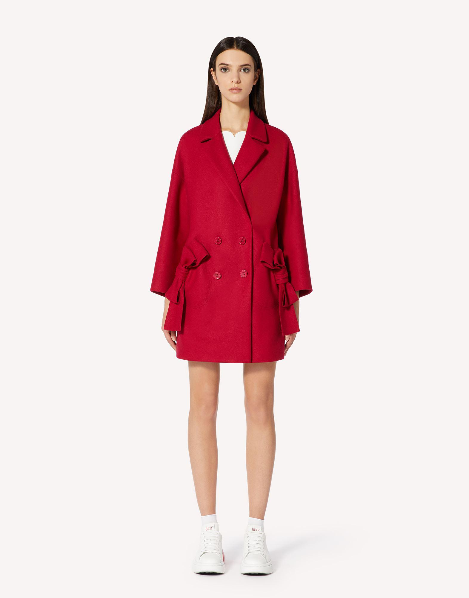 WOOL CASHMERE OVERSIZE COAT WITH BOW DETAILS