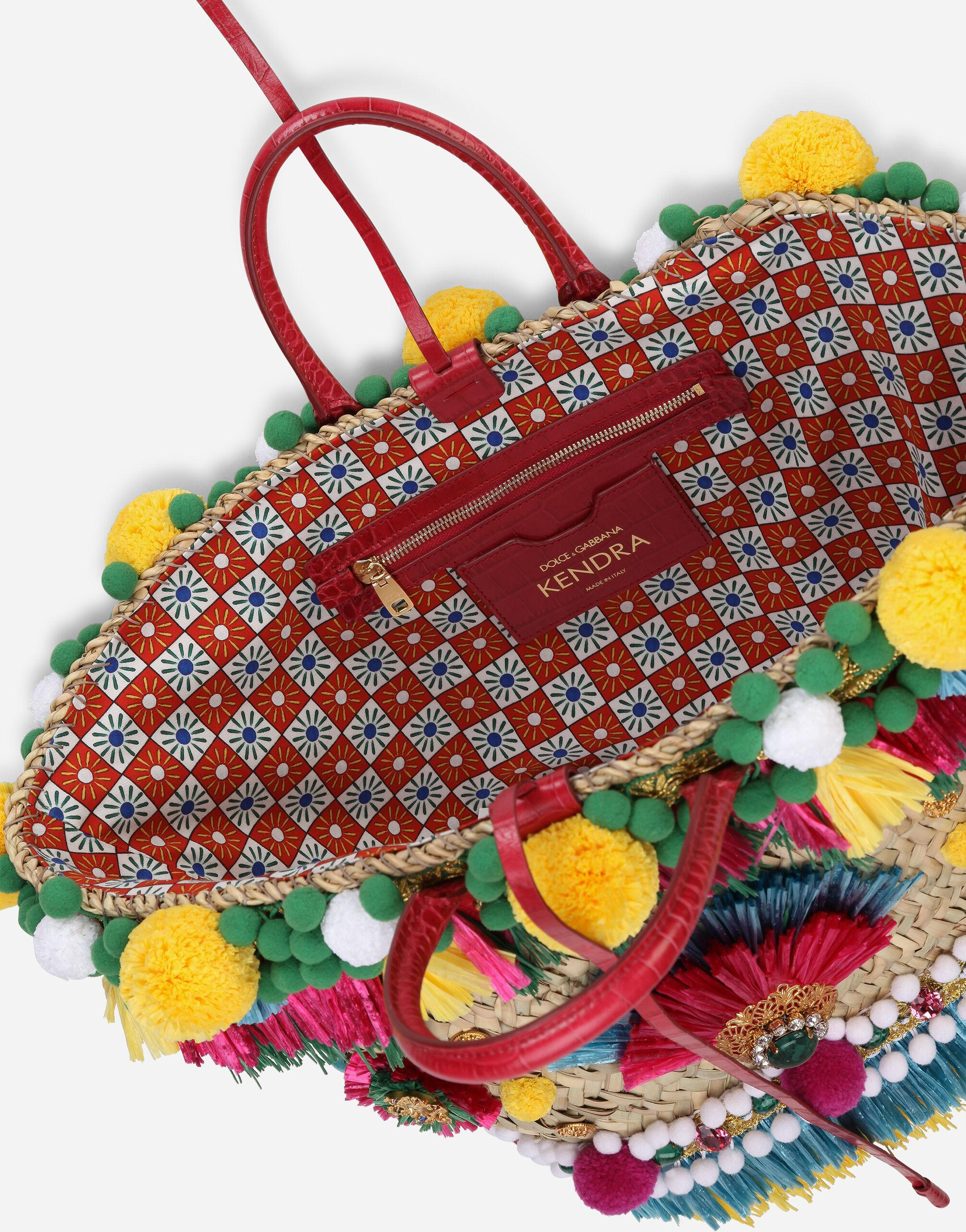 Straw Kendra coffa bag with embroidery 3