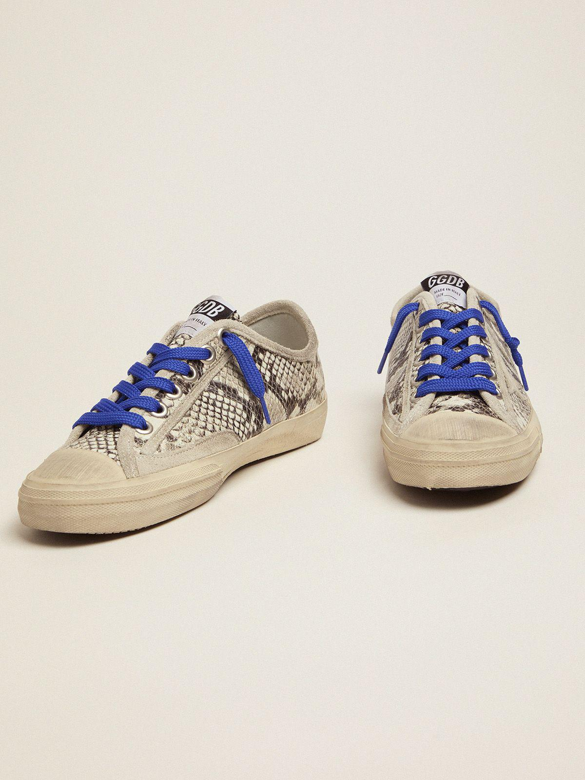 V-Star sneakers in snake-print leather with fuchsia insert 1