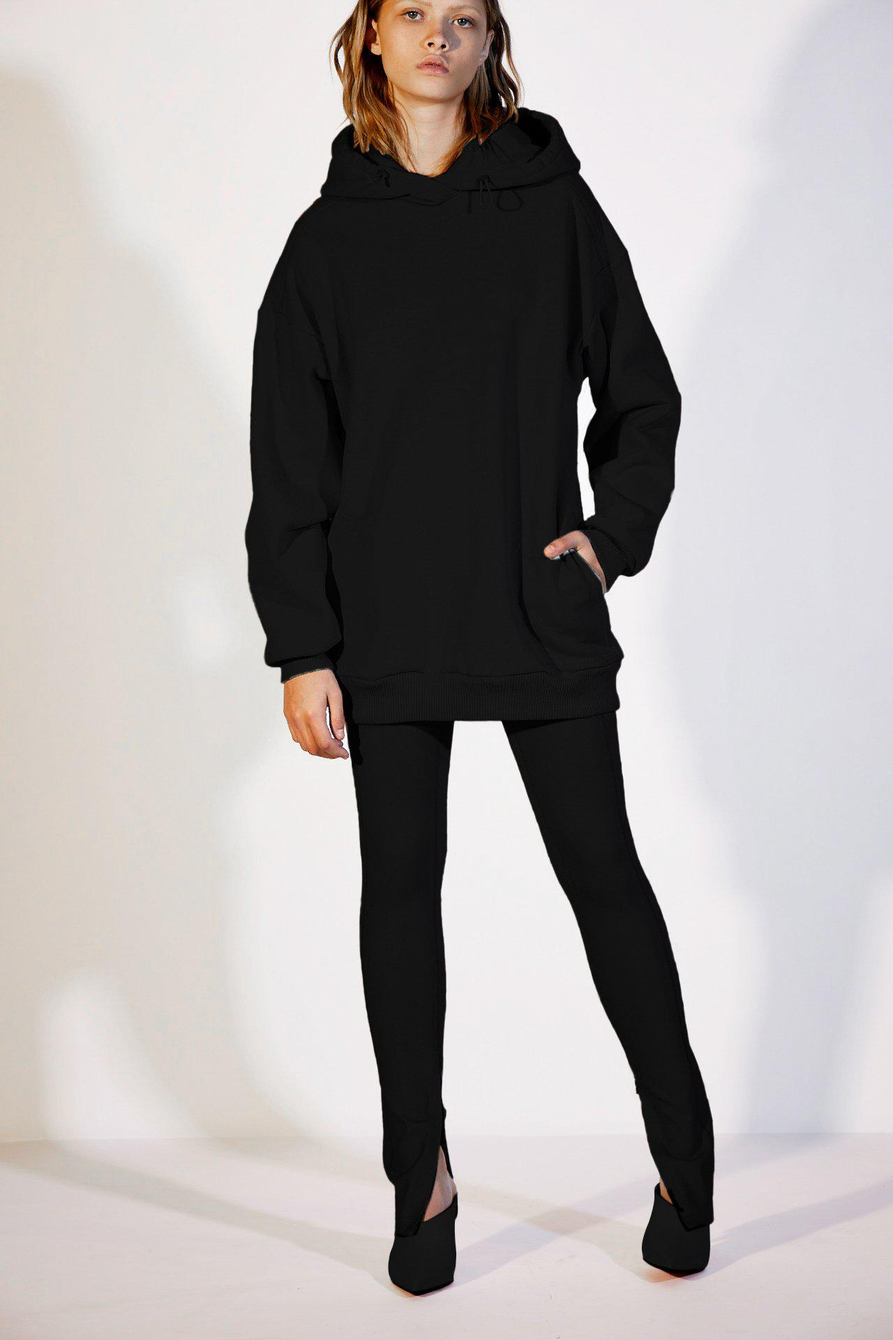 High Waist Ponte Legging with Ankle Zippers