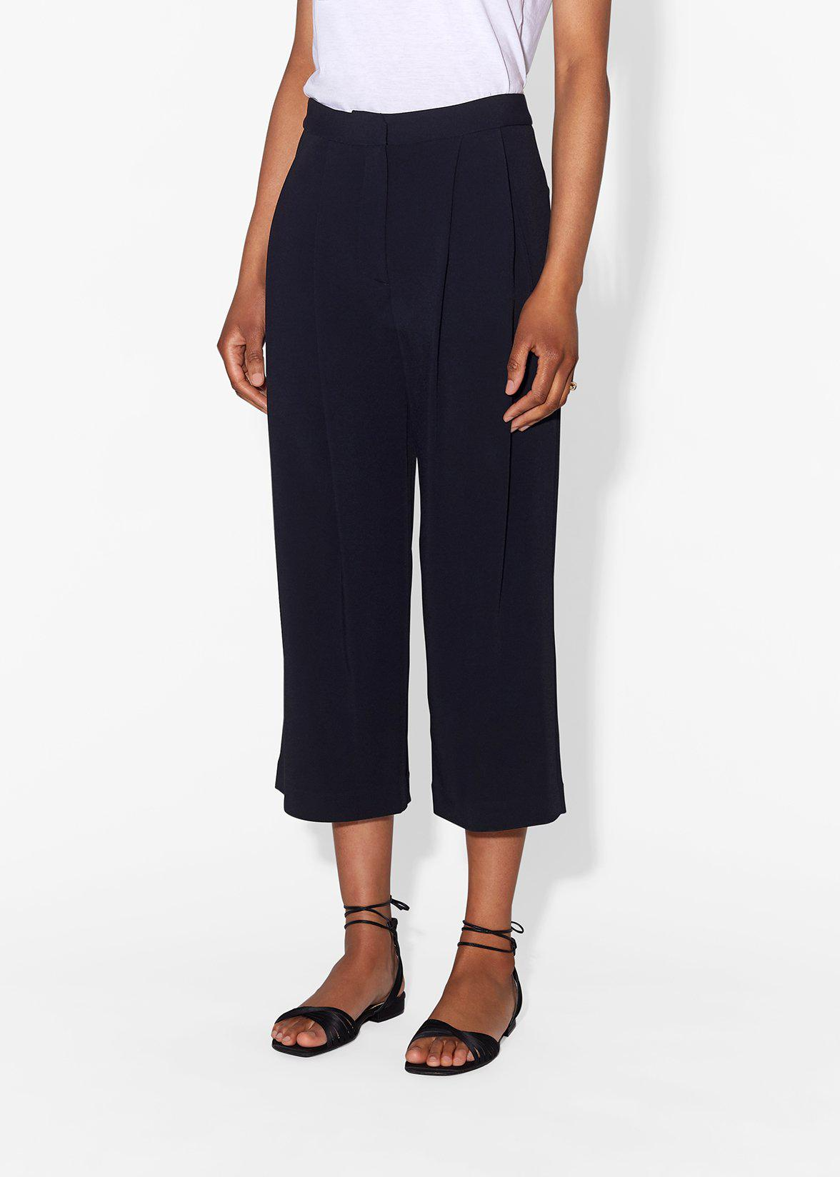 PLEAT FRONT CULOTTE IN STRETCH CADY 4