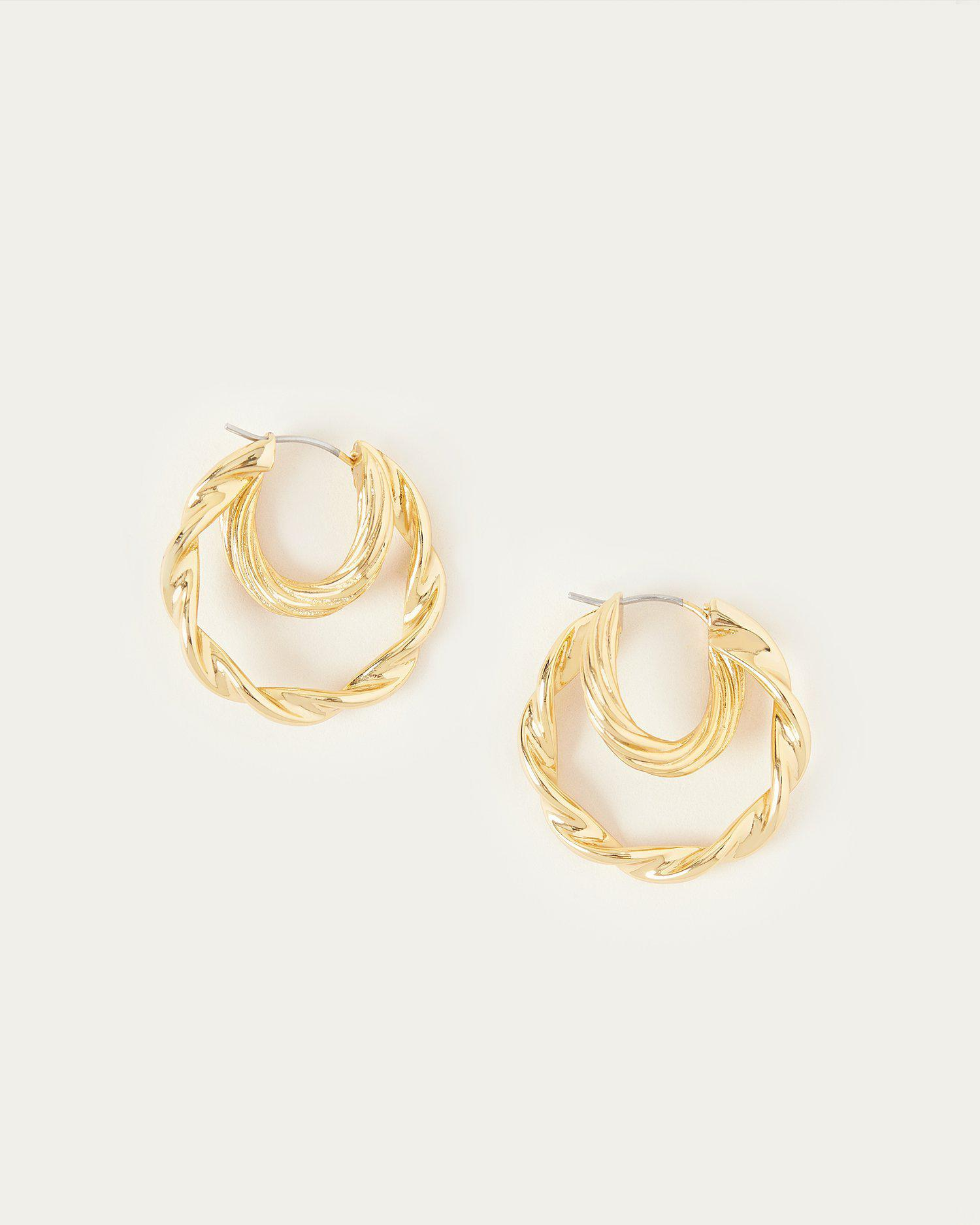 Holly Gold Double Hoop Earring