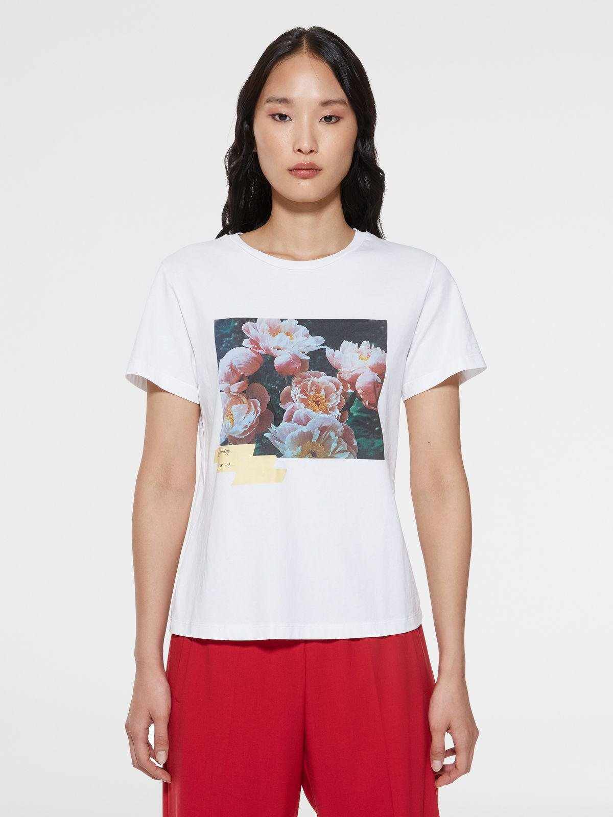 Dream Maker Collection Ania T-shirt with adhesive tape-effect print