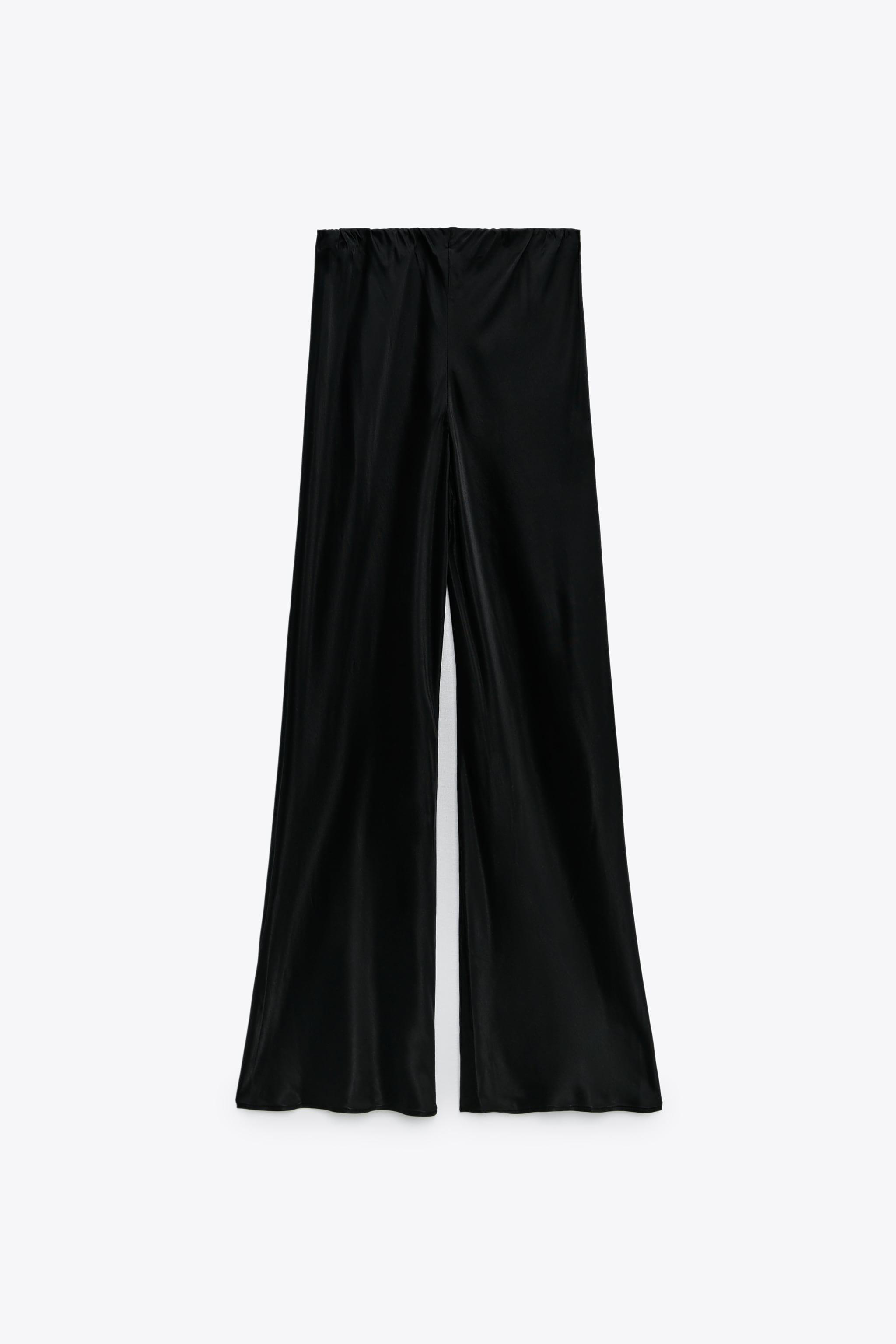 FLARED SATIN EFFECT PANTS 6