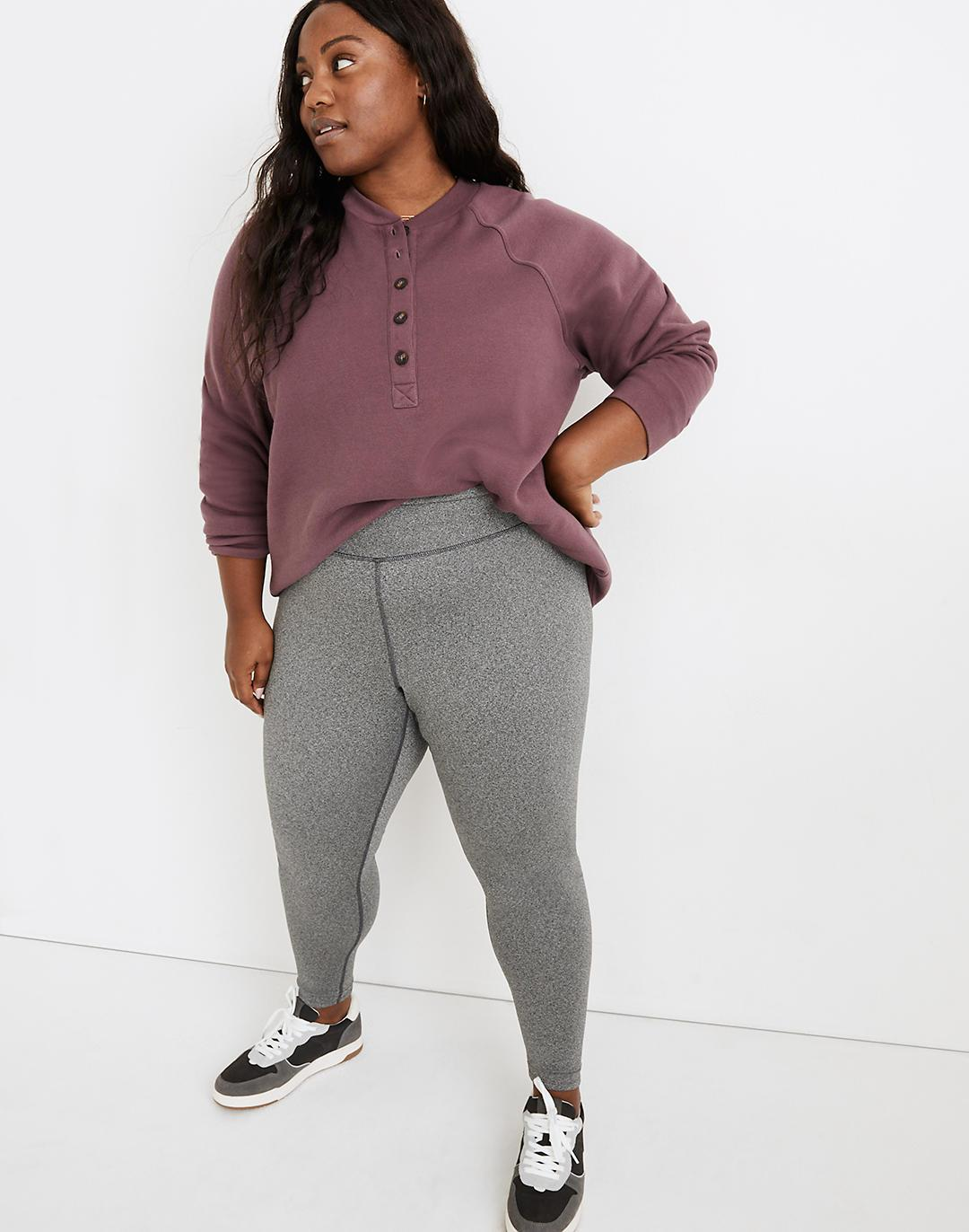 """Plus MWL Form High-Rise 28"""" Leggings in Heathered Charcoal"""