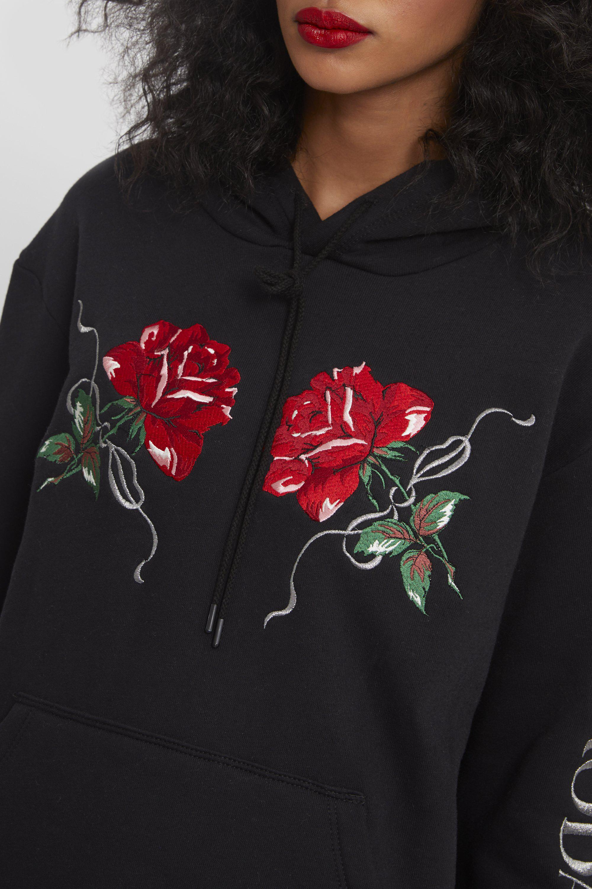RED ROSE EMBROIDERED HOODIE 4