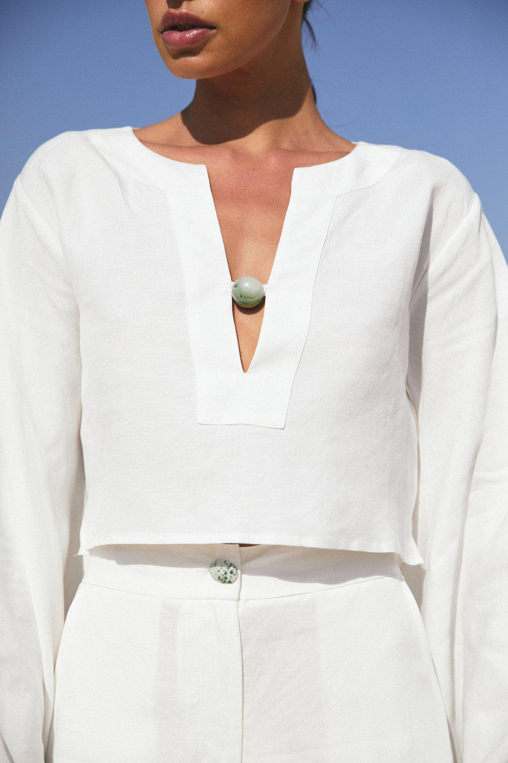 AMY TOP - OFF WHITE