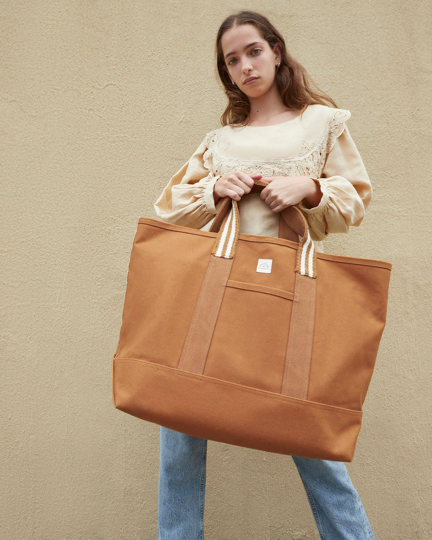 Bodie Toffee Oversized Open Tote 3